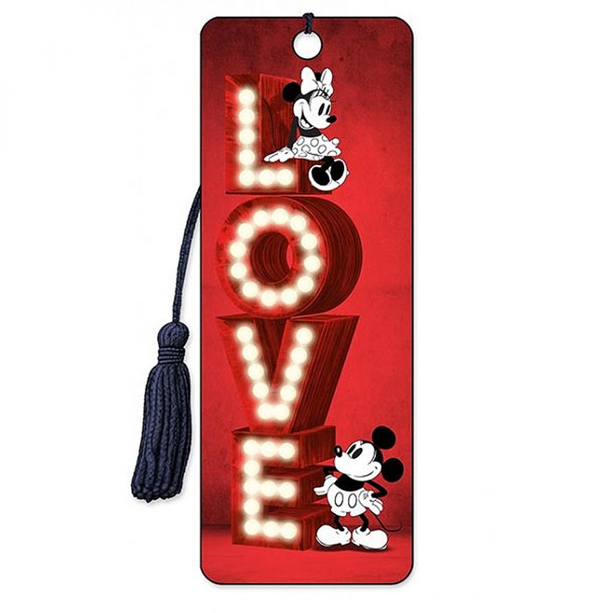 Mickey and Minnie Love 3D Moving Image Love Bookmark