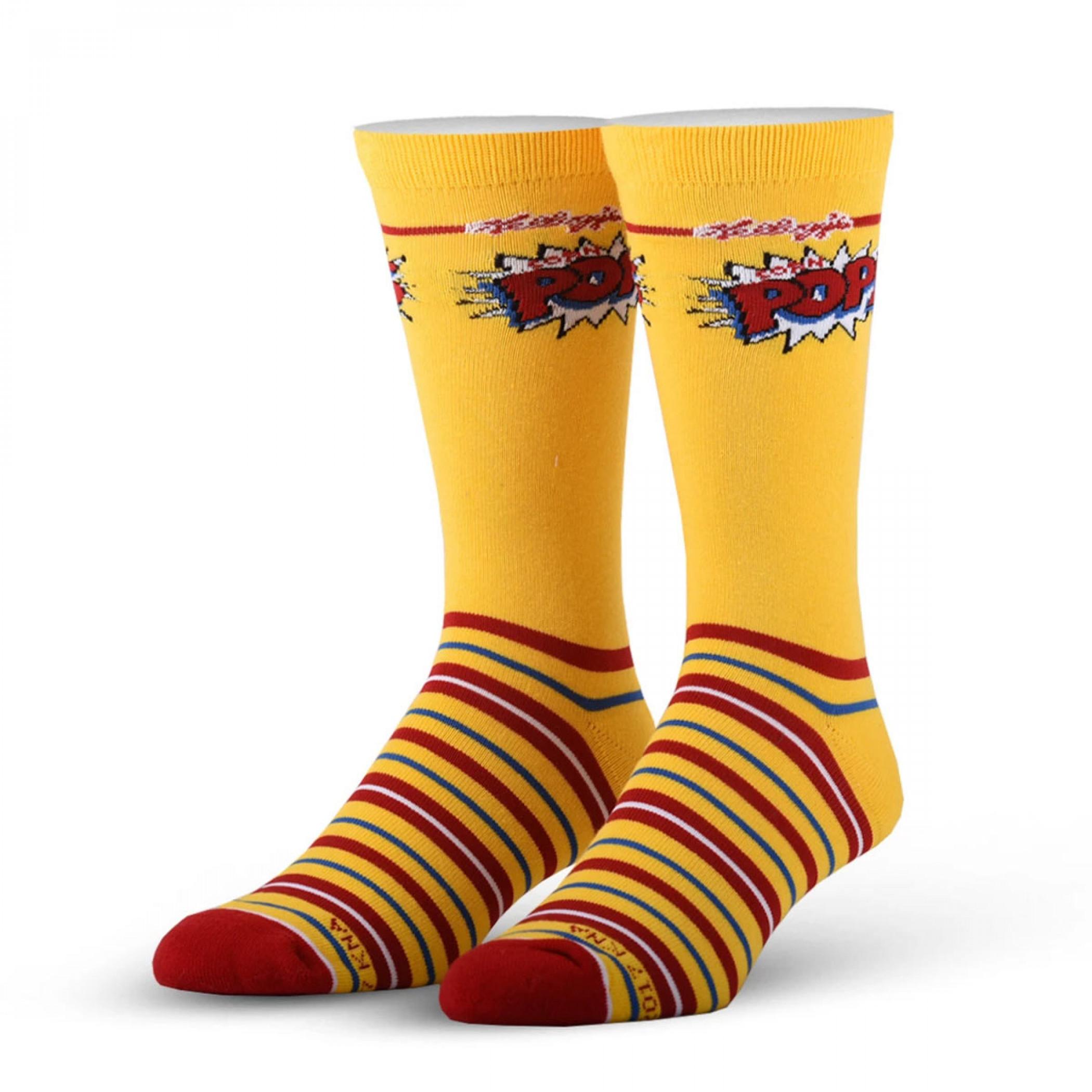 Corn Pops Yellow Kellogg's Cereal Socks