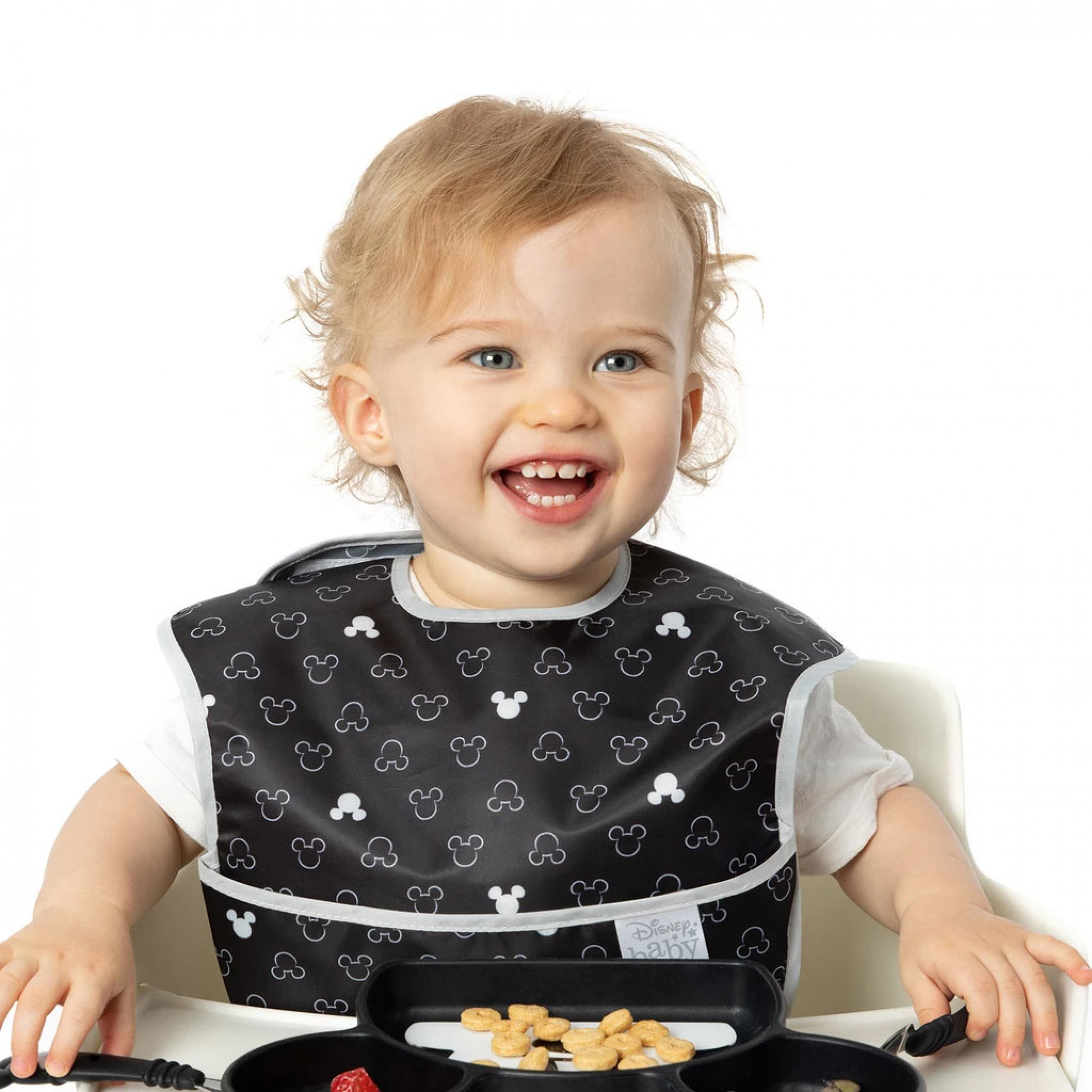 Mickey Mouse Black and White 3 Pack Bib Set