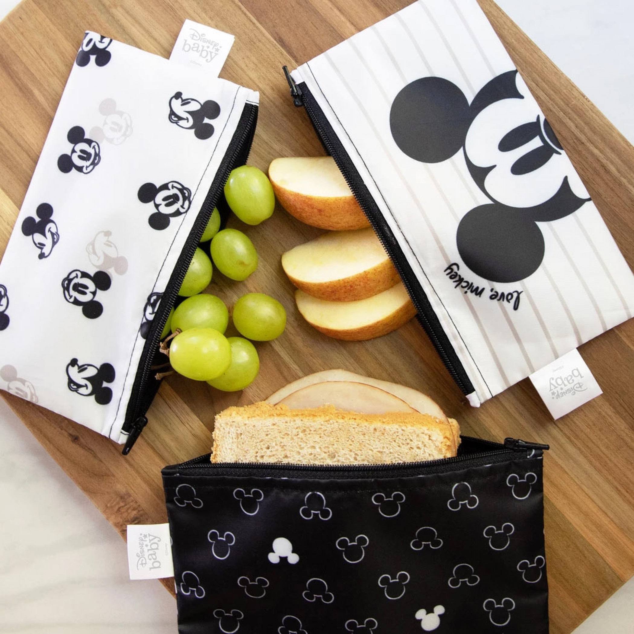 Mickey Mouse 3 Pack Snack Bag