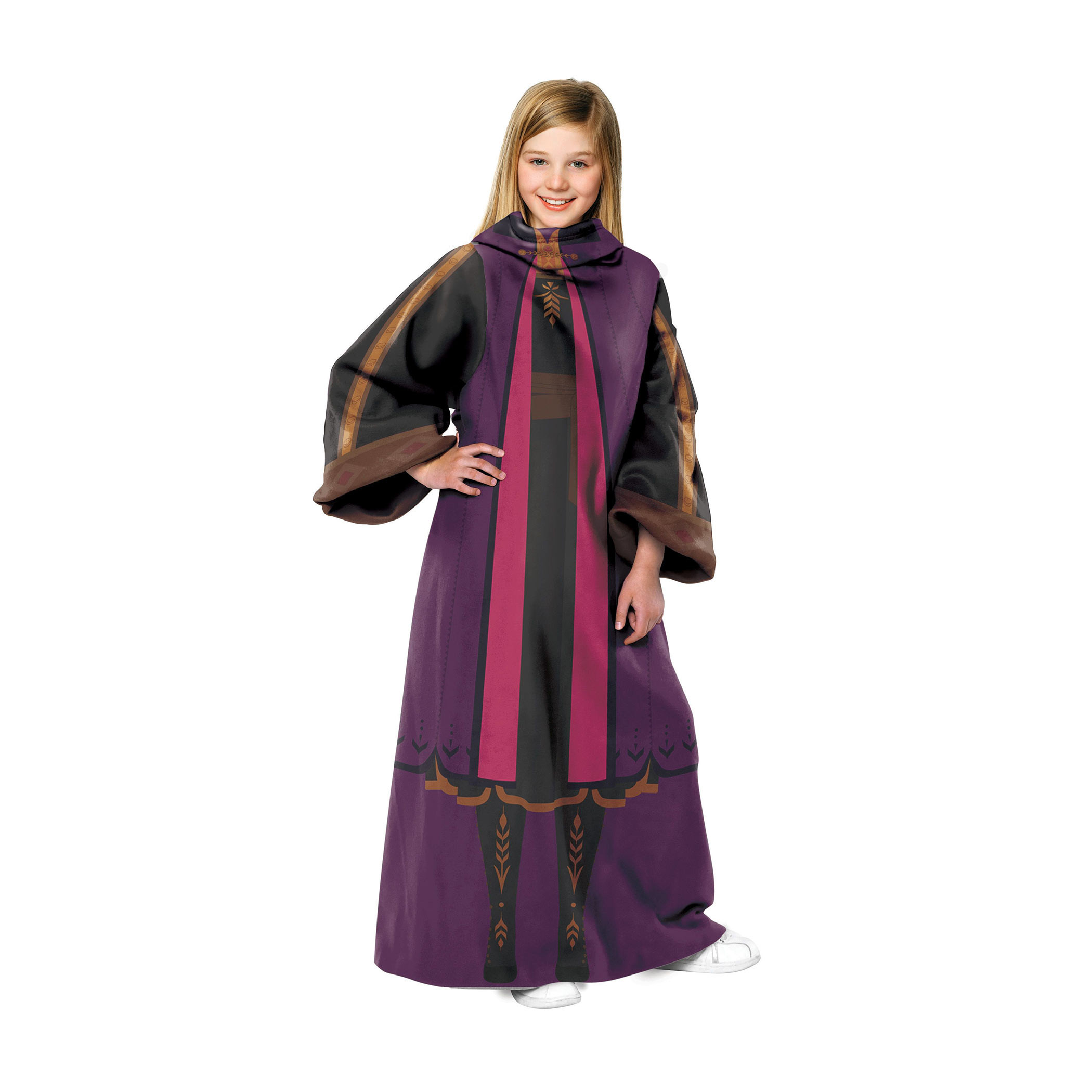 Frozen 2 Anna Throw Youth Blanket With Sleeves