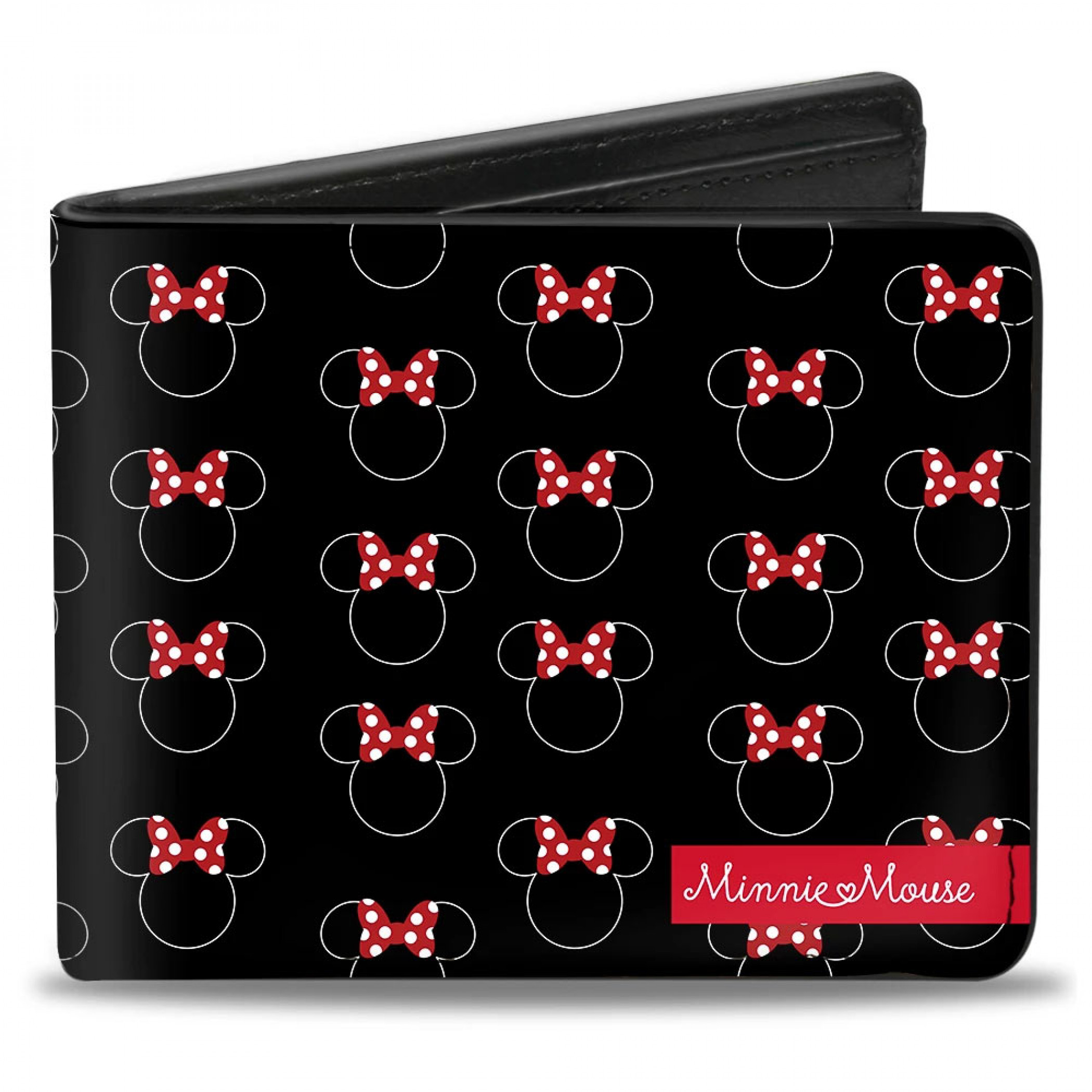 Minnie Mouse Icons Bi Fold Wallet