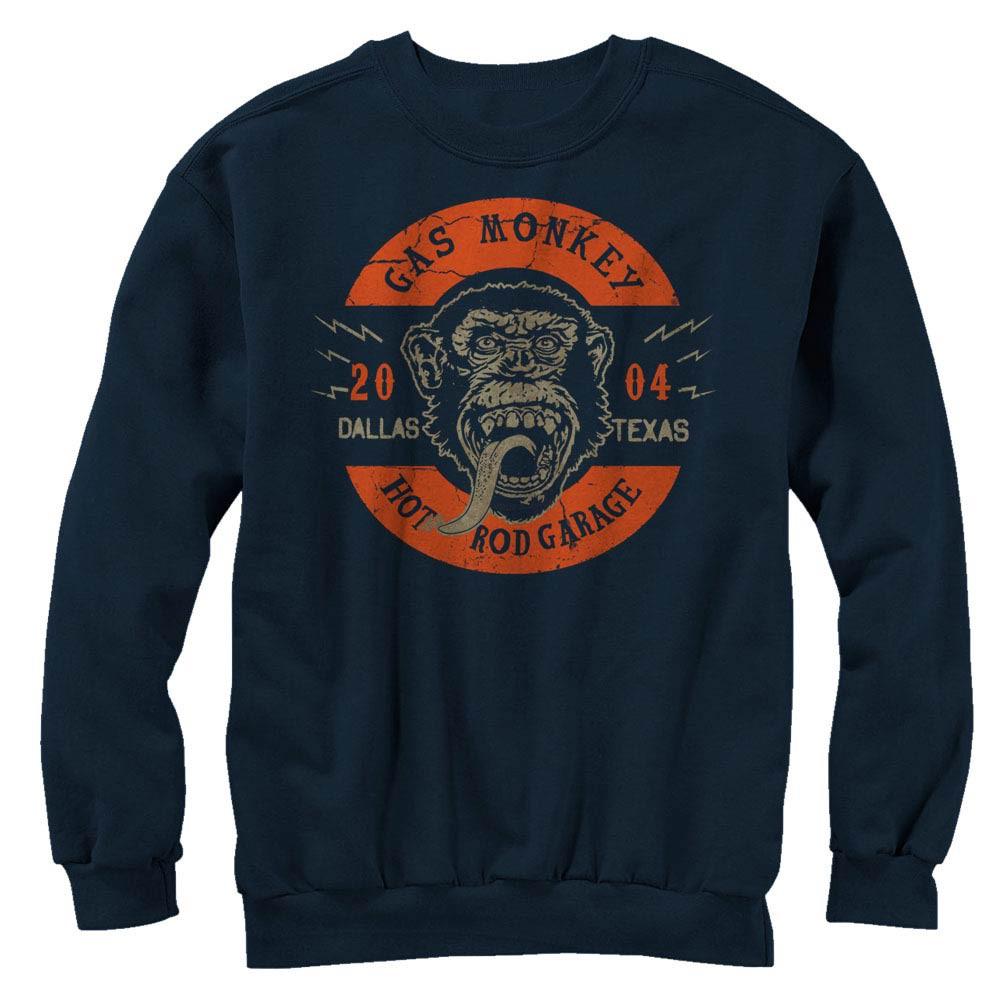Gas Monkey Garage Full Circle Blue Long Sleeve T-Shirt