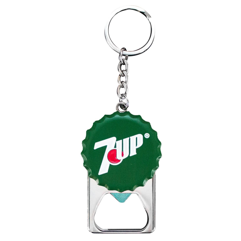 7 Up Bottle Cap Bottle Opener Keychain