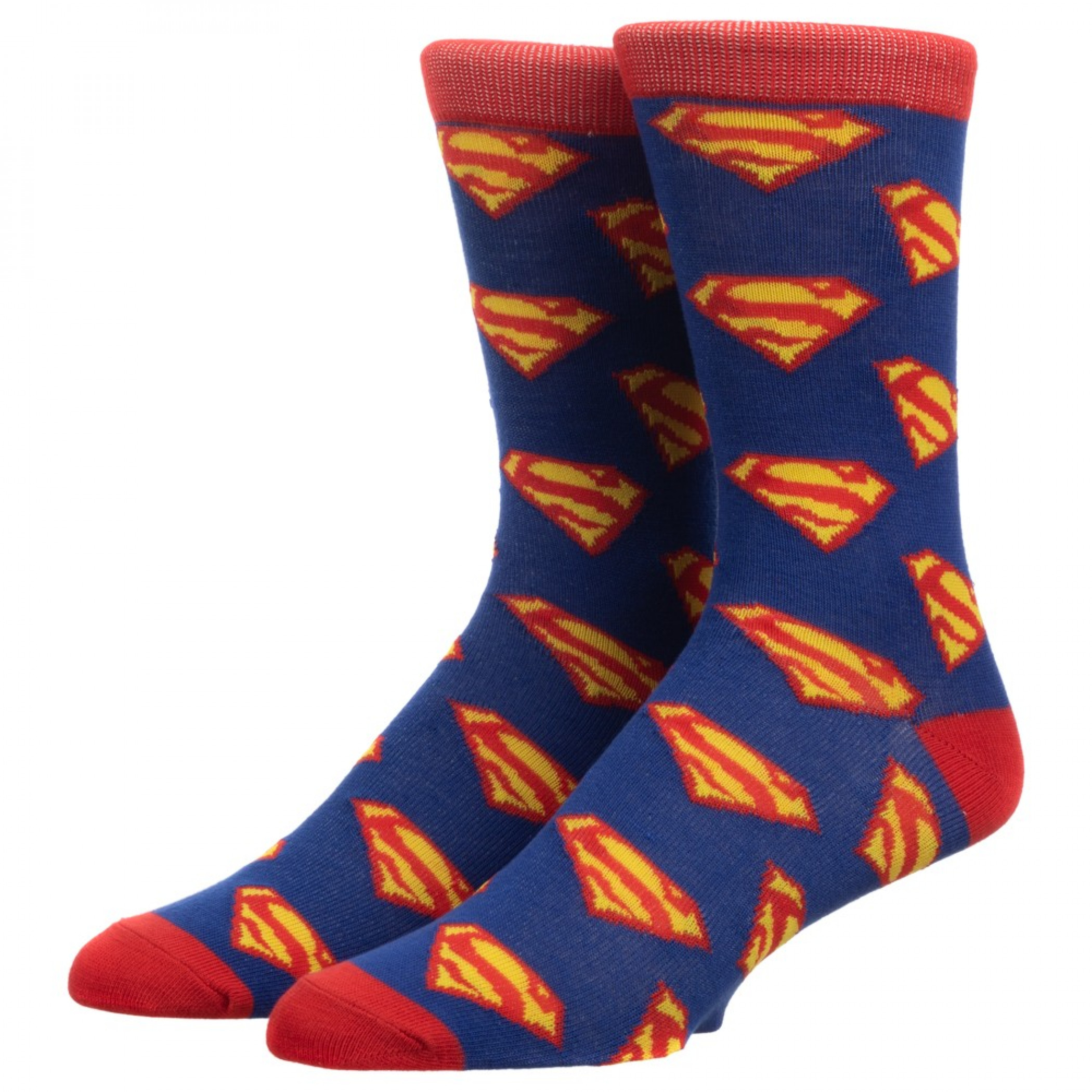 Superman All Over Print Crew Socks
