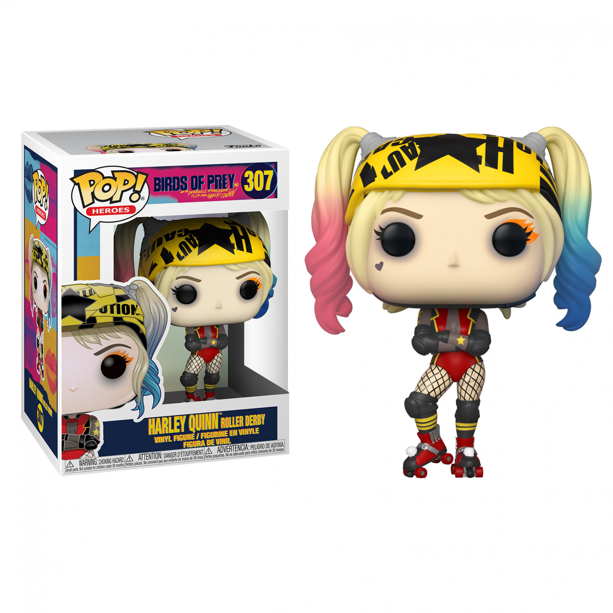 Birds of Prey Harley Quinn Roller Skates Funko Pop