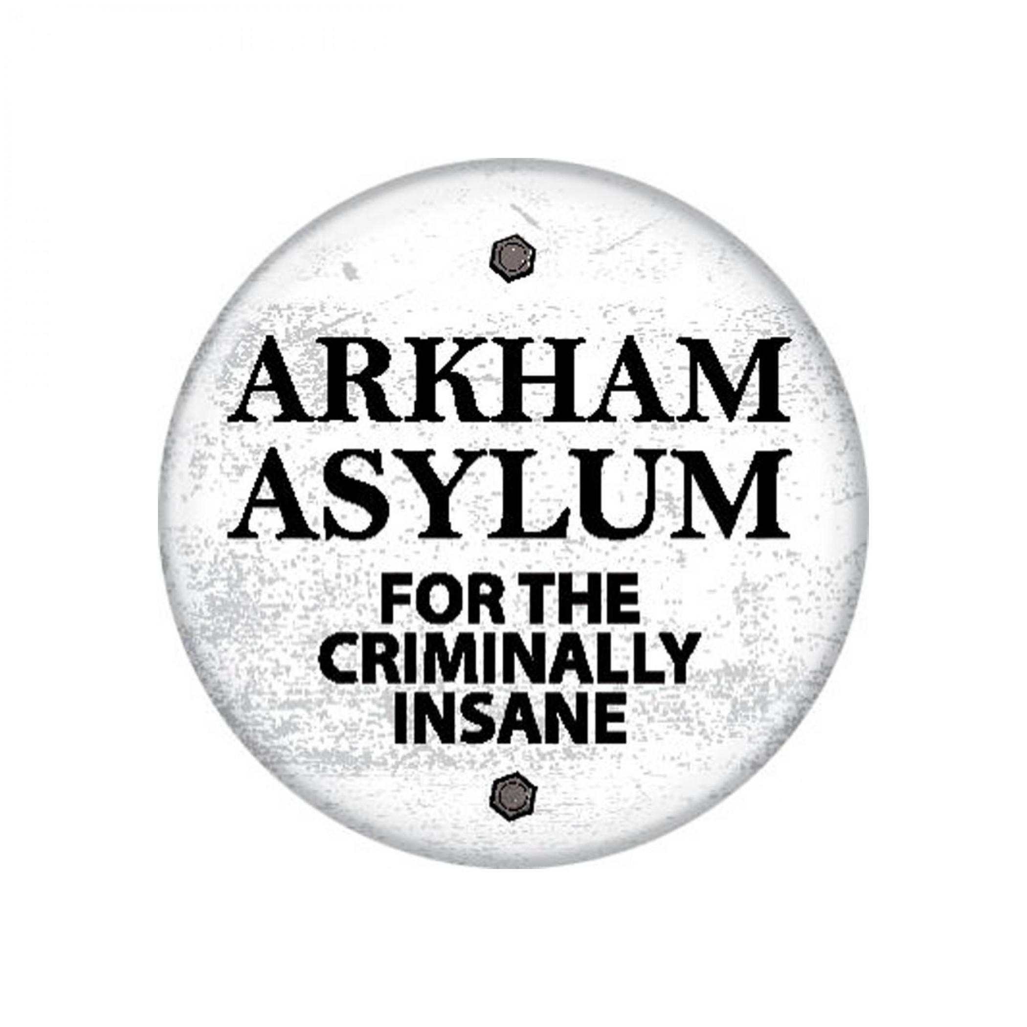 Batman Arkham Asylum 1.25 Inch Button