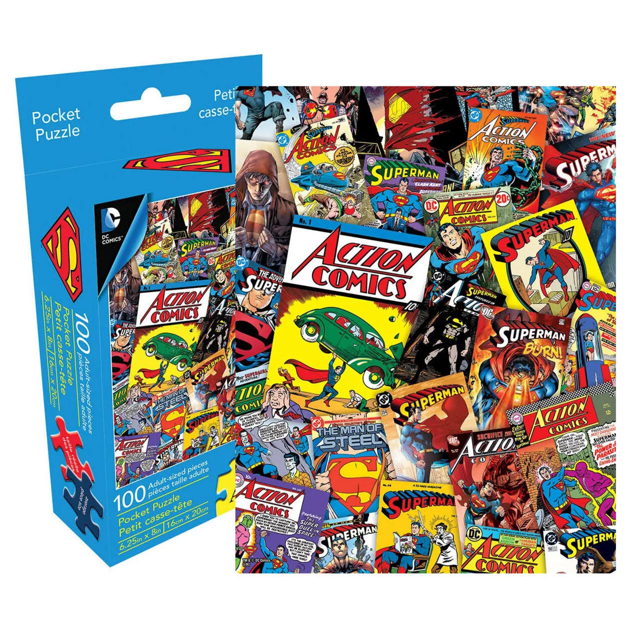 Superman 100pc Adult Pocket Puzzle