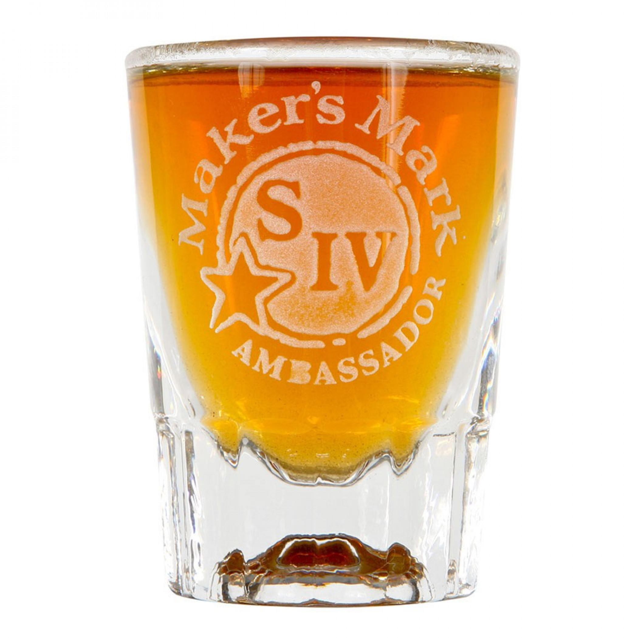 Makers Mark Etched Ambassador Shot Glass
