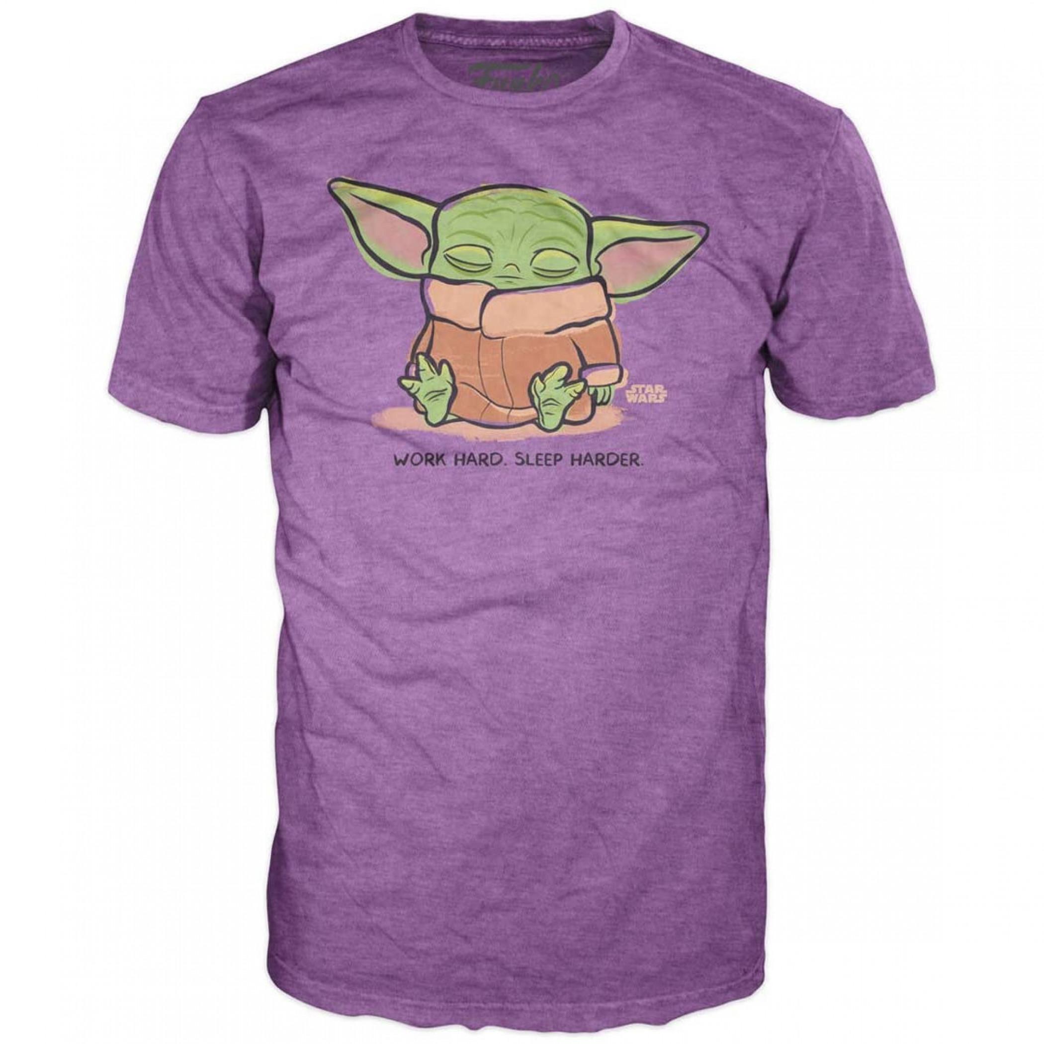 Star Wars The Mandalorian The Child Work Hard Sleep Harder T-Shirt