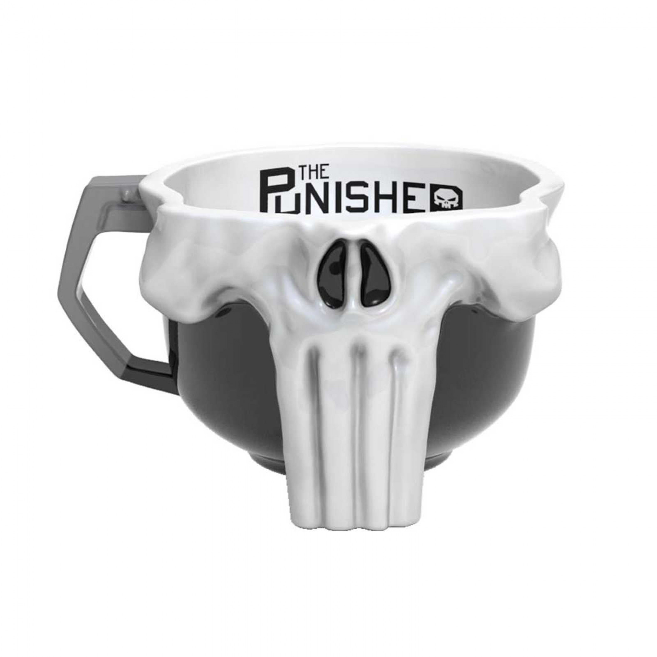 Punisher Skull Sculpted Mug