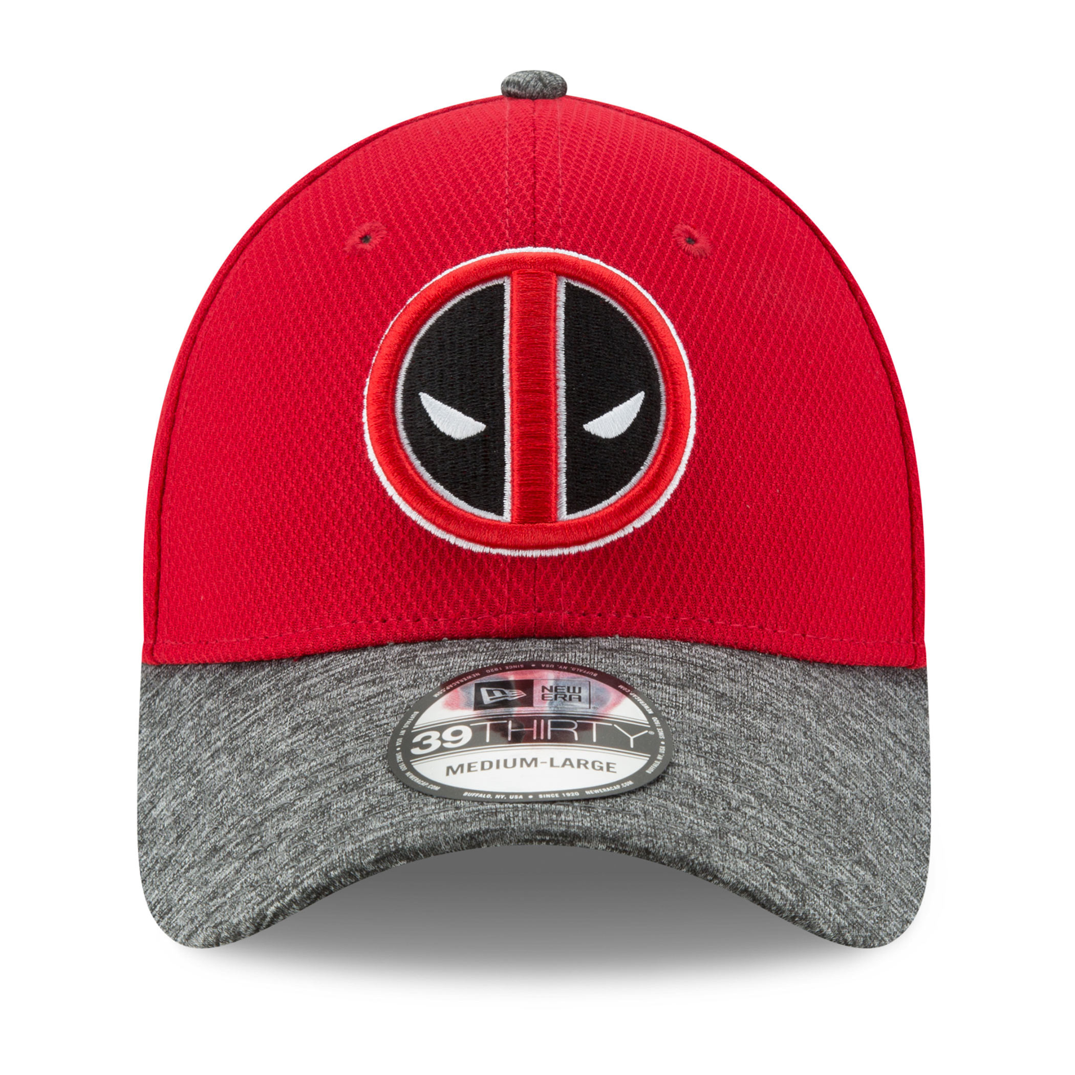 Deadpool Shaded Team Colors New Era 39Thirty Fitted Hat