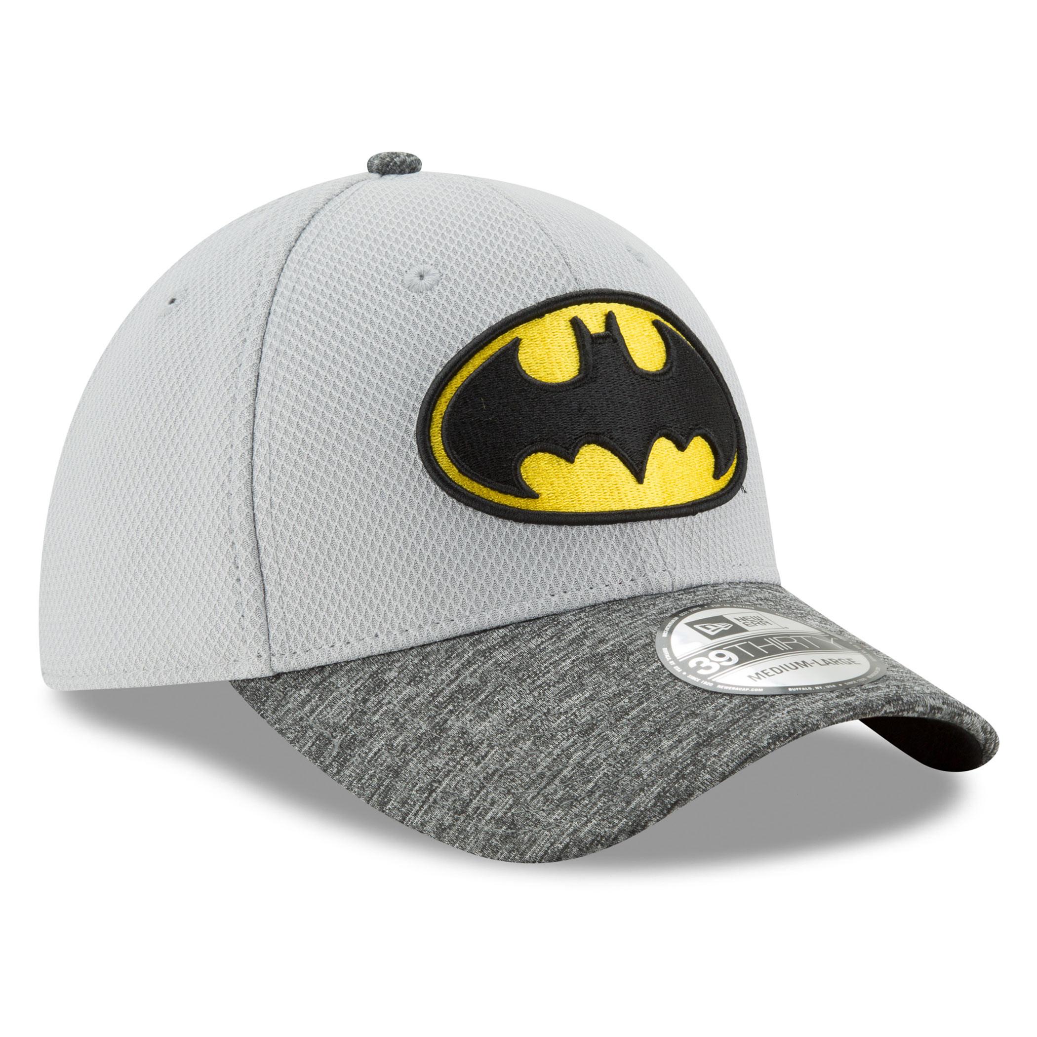 Batman Shaded Team Colors New Era 39Thirty Flex Fitted Hat