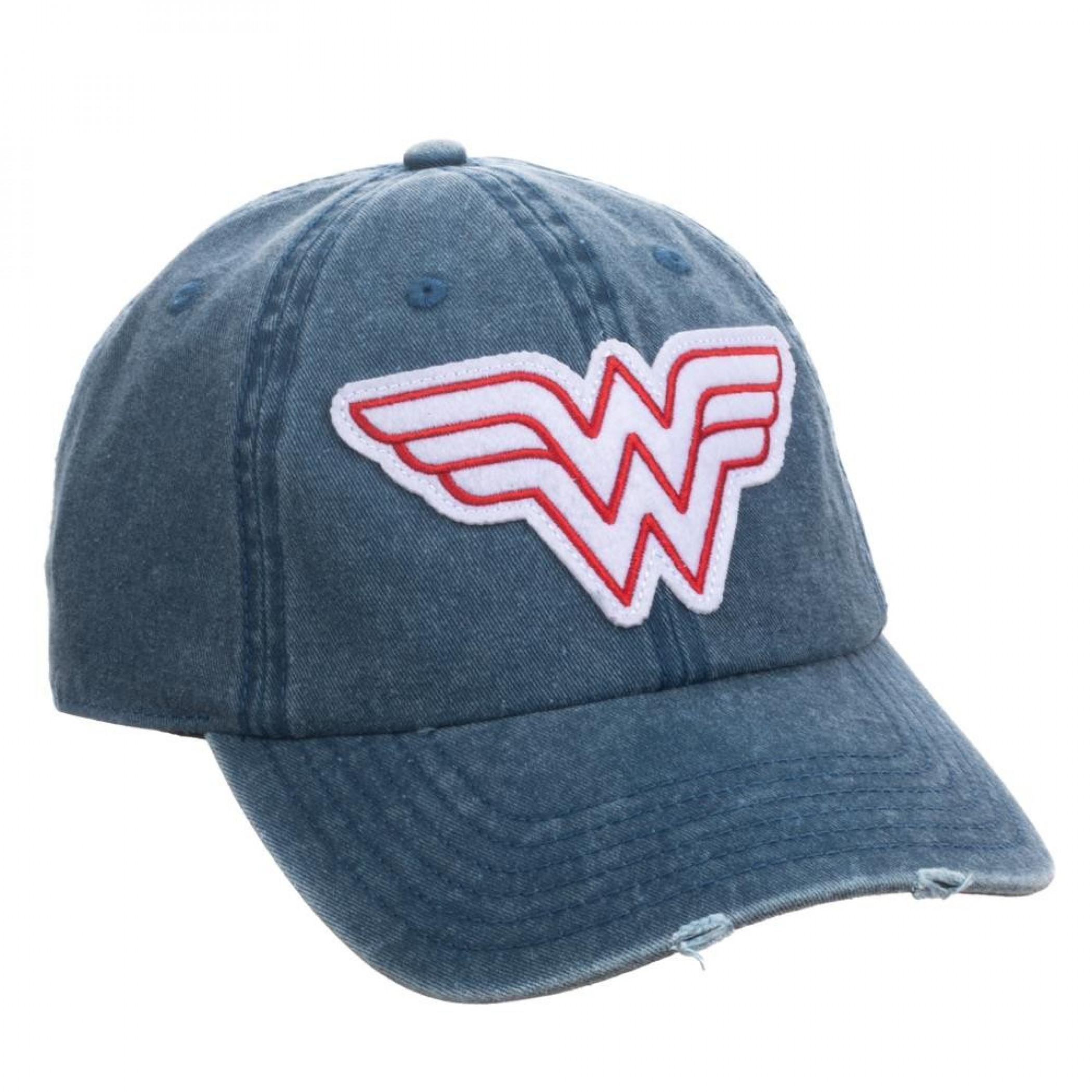 Wonder Woman Vintage Logo Pigment Dye Distressed Dad Hat