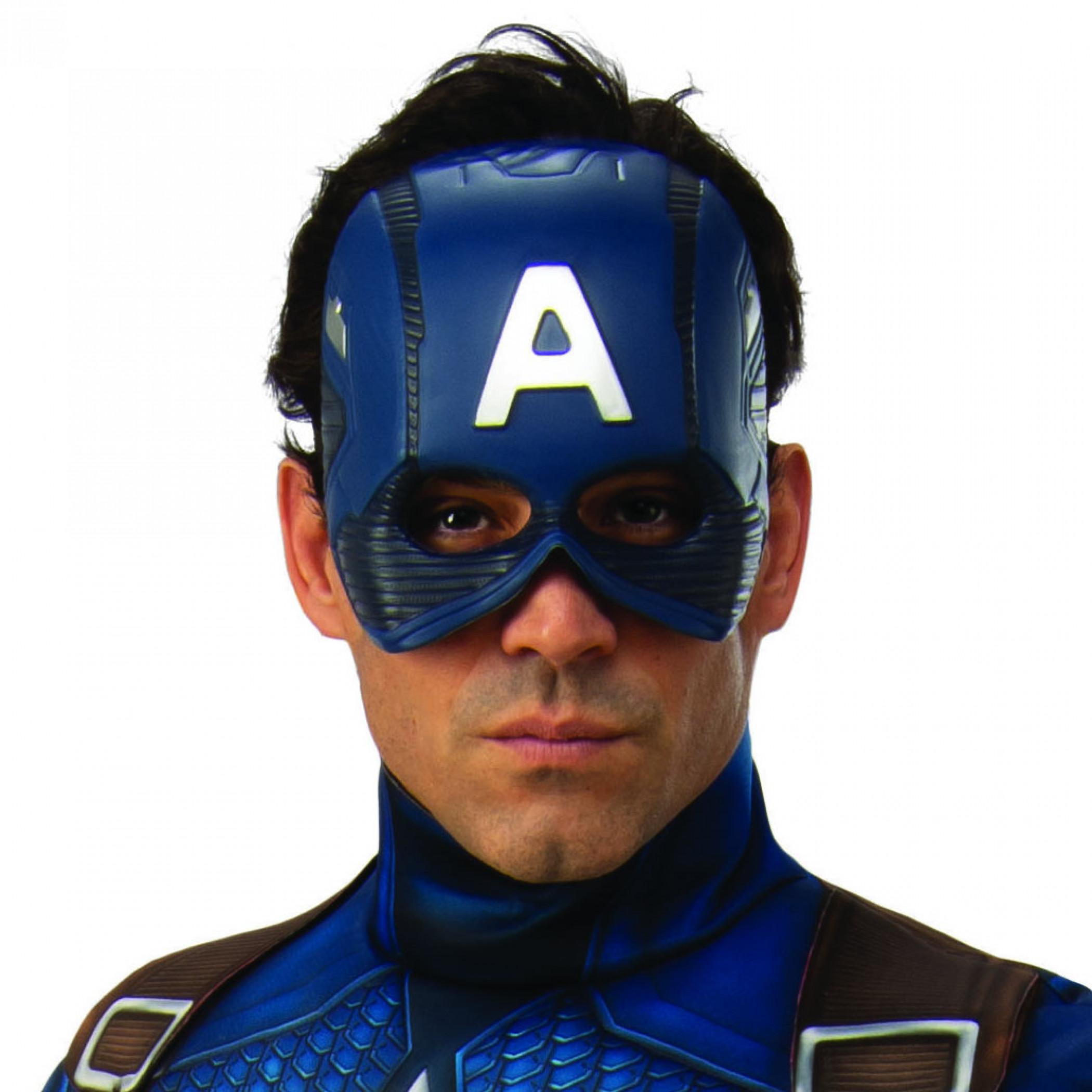 Captain America Adult Costume Half Mask