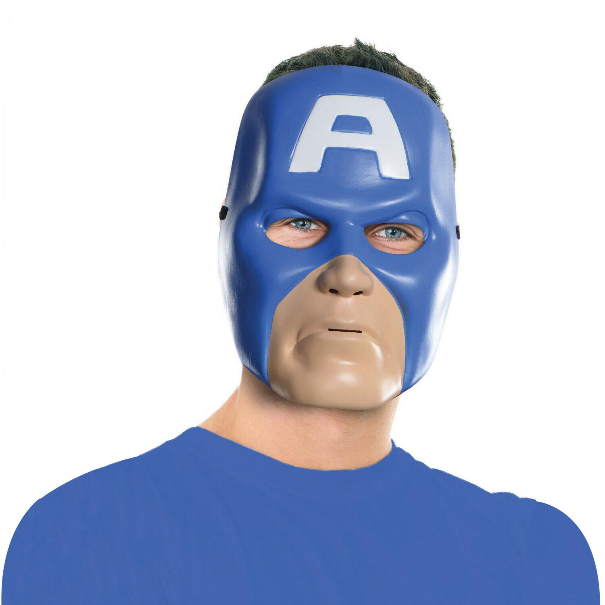 Captain America Vintage Style Ben Cooper Costume Halloween Mask