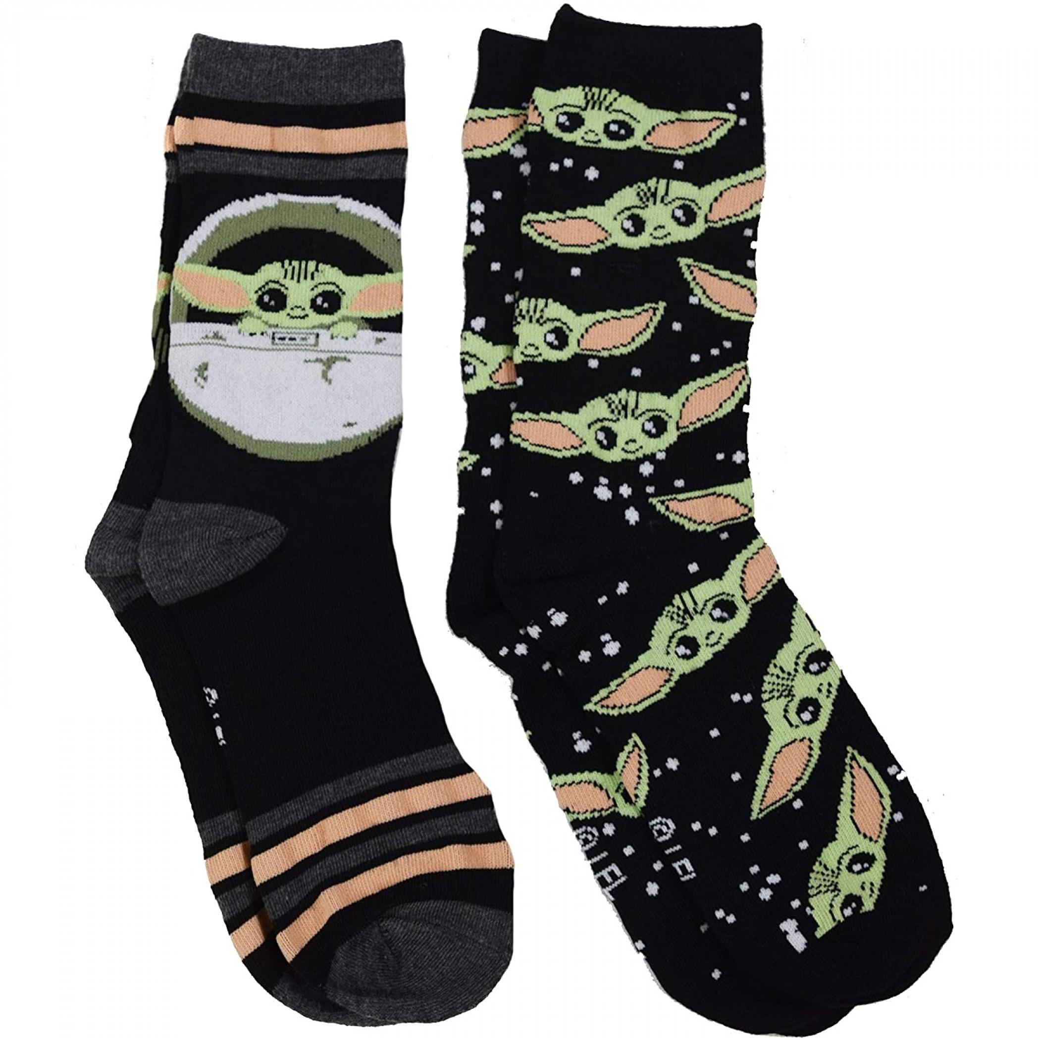 Star Wars The Mandalorian 2-Pair Pack of The Child Women's Crew Socks