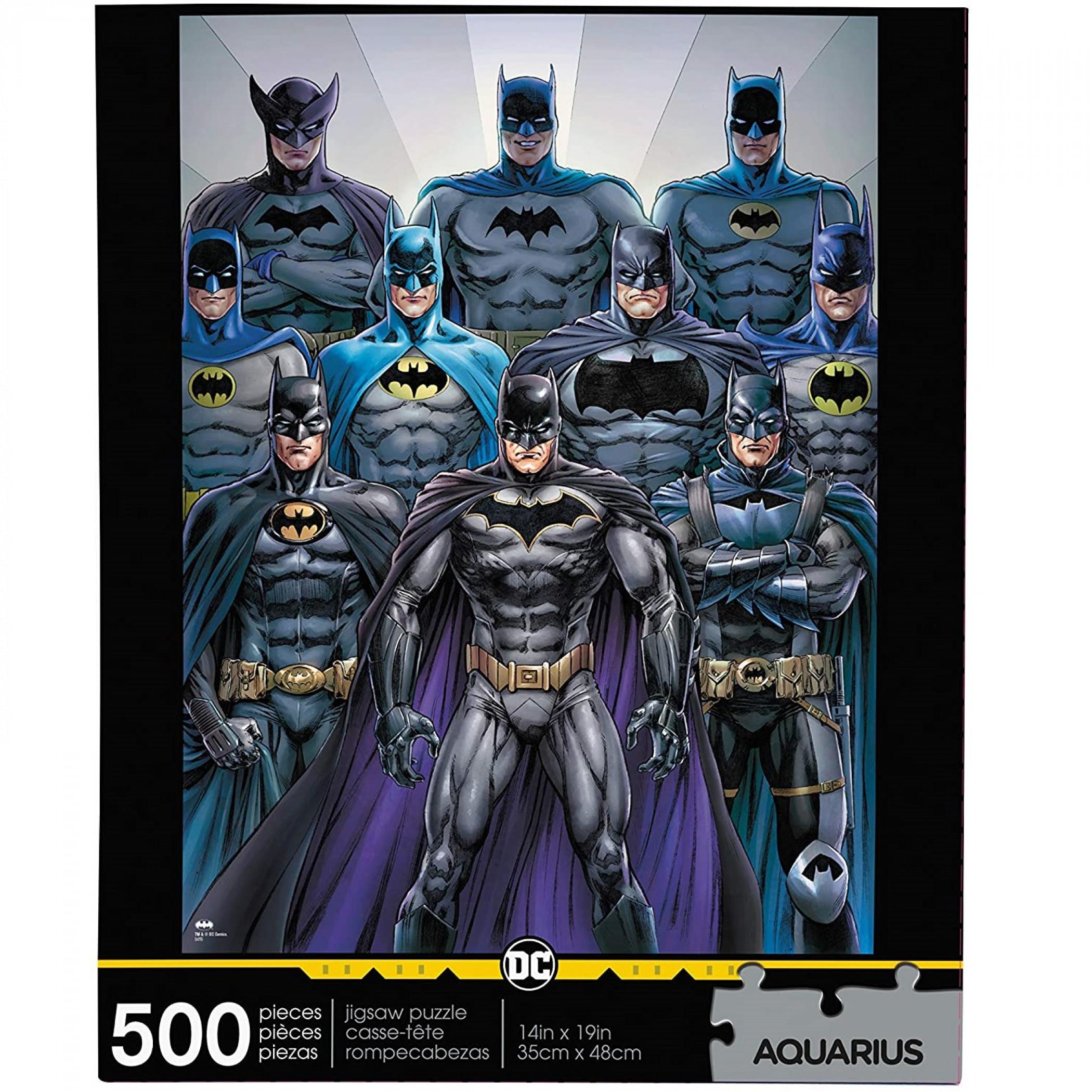 DC Comics Batman Batsuits 500-Piece Jigsaw Puzzle
