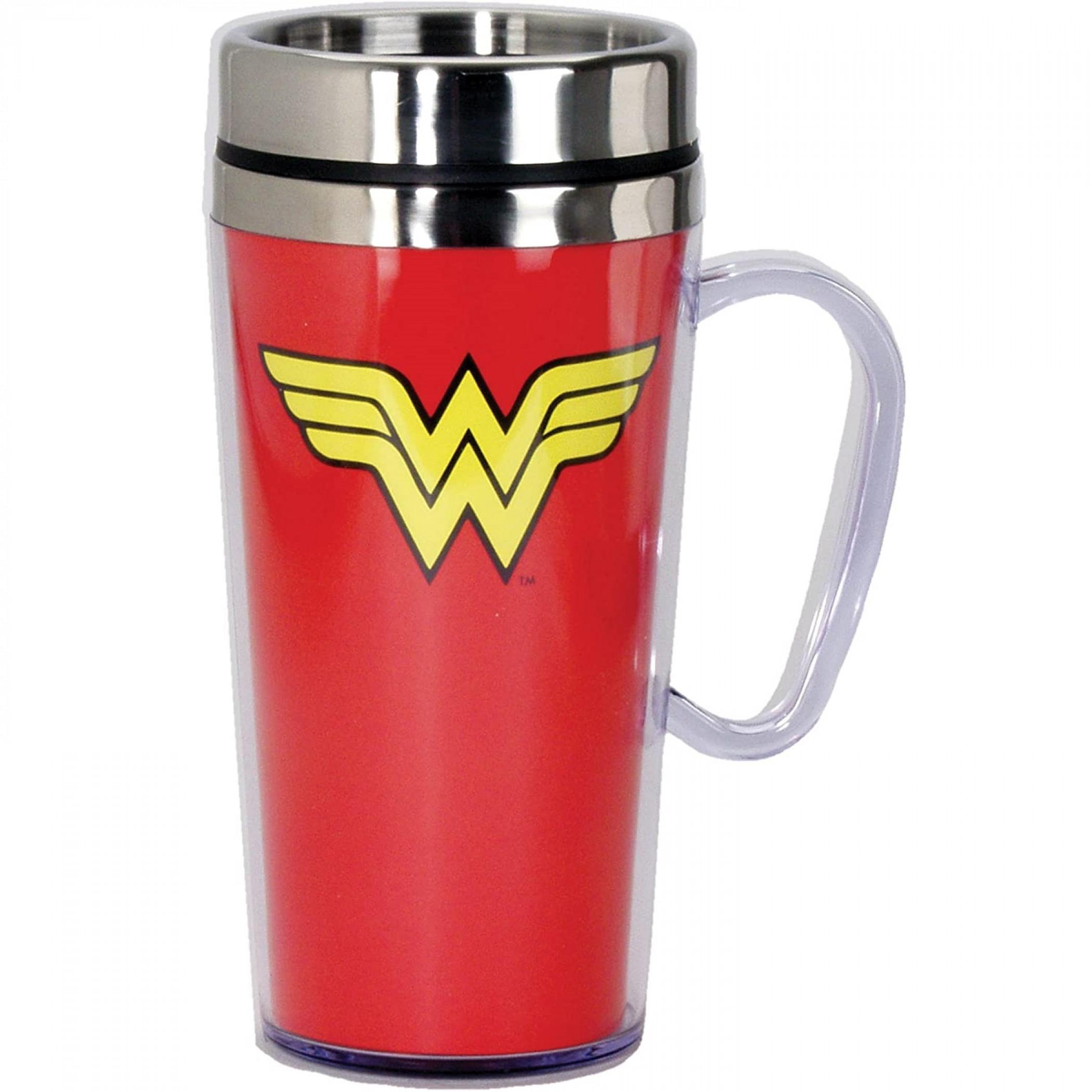 Wonder Woman Symbol Travel Mug