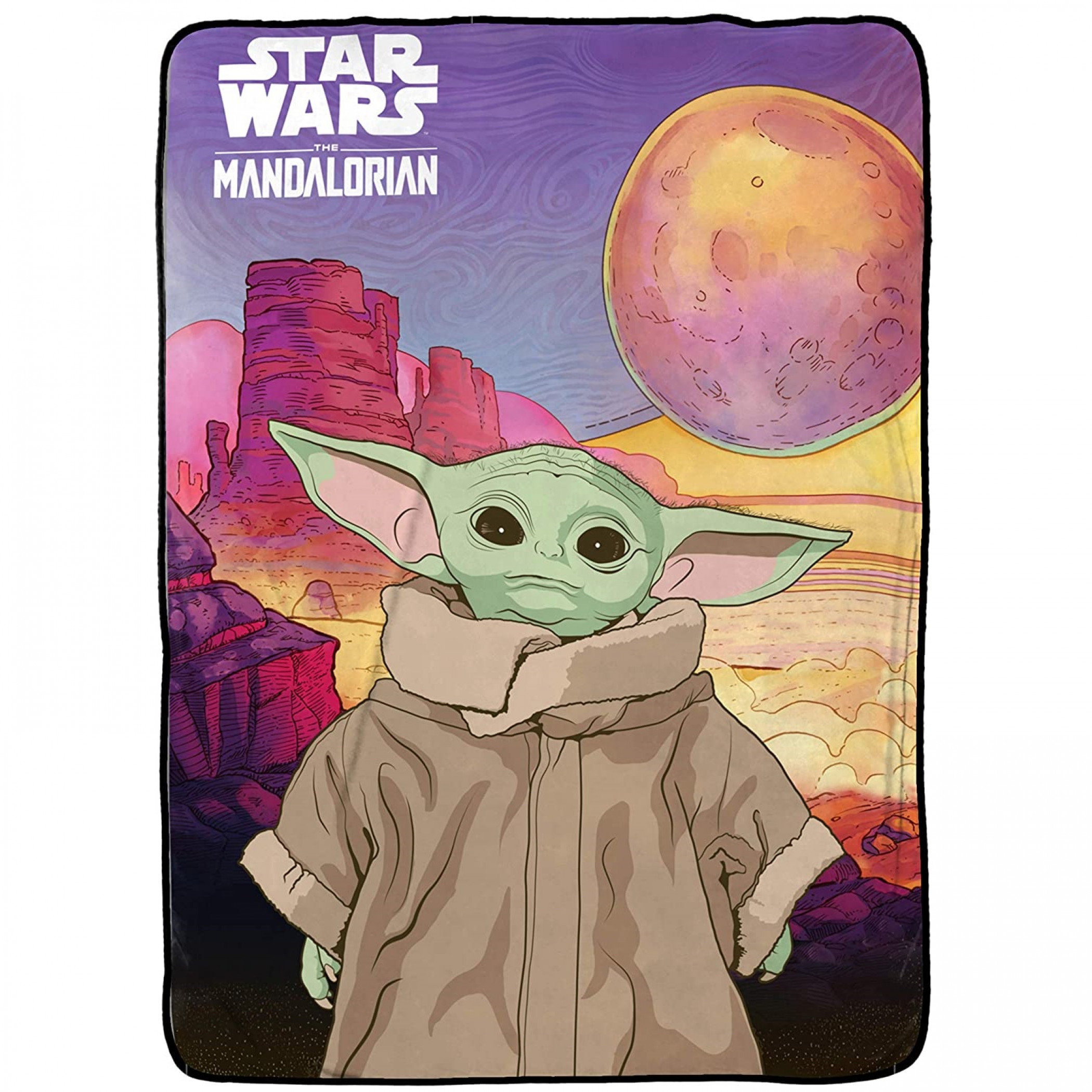Star Wars The Mandalorian The Child Fleece Blanket