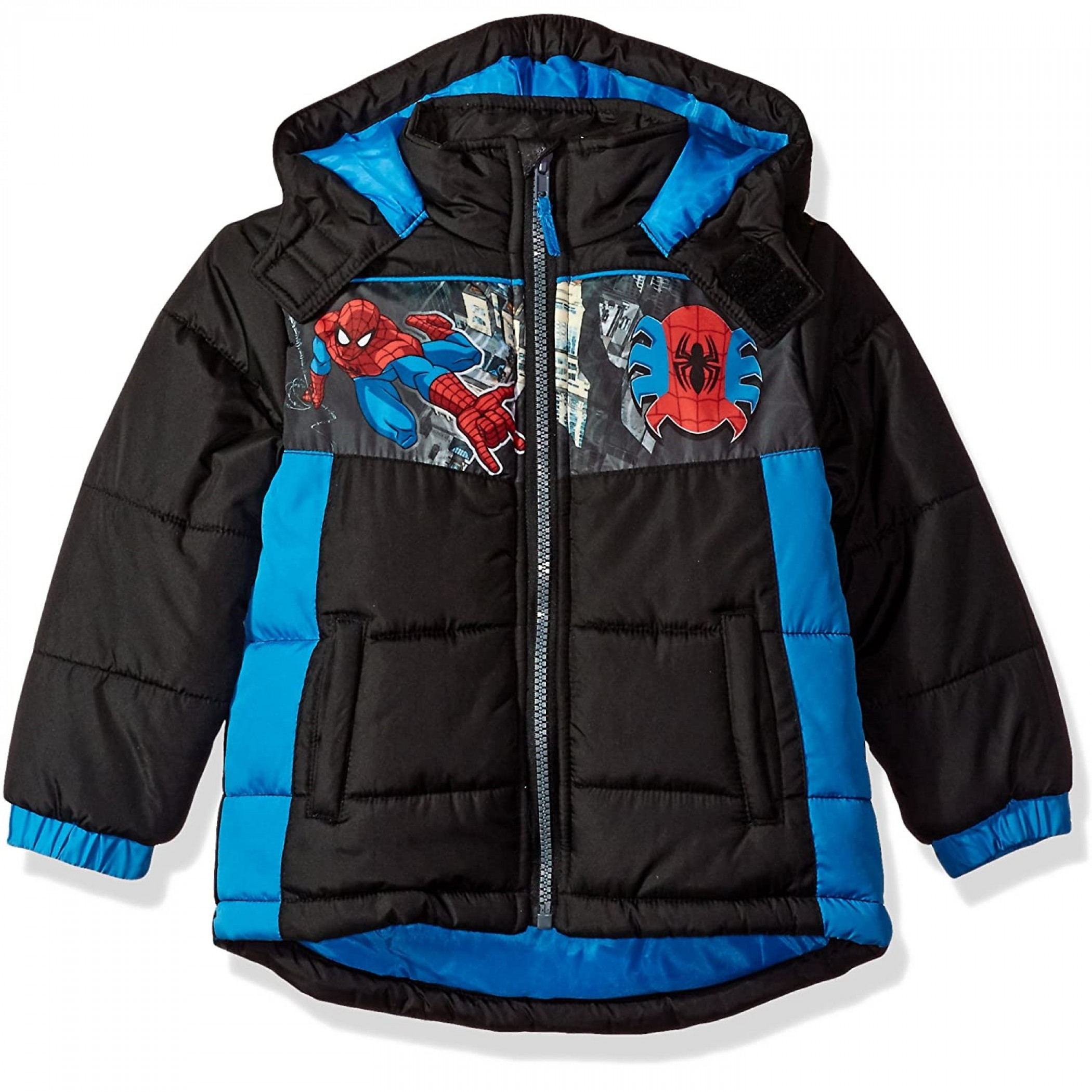 Spider-Man Character Toddler Puffer Coat