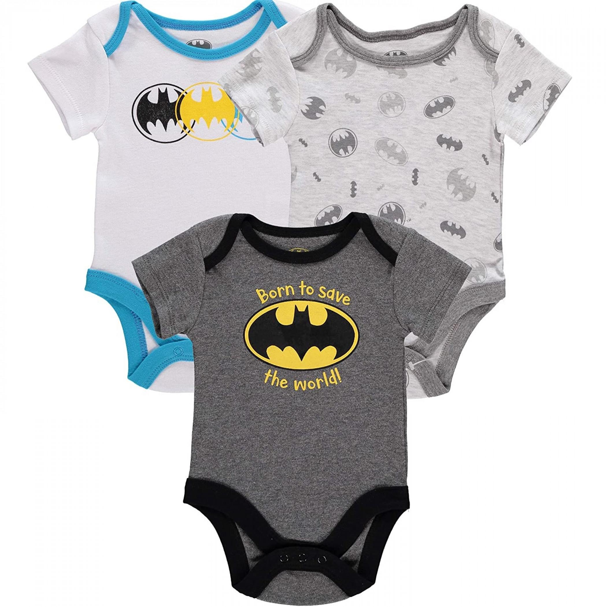 Batman Logo Snapsuit 3-Pack