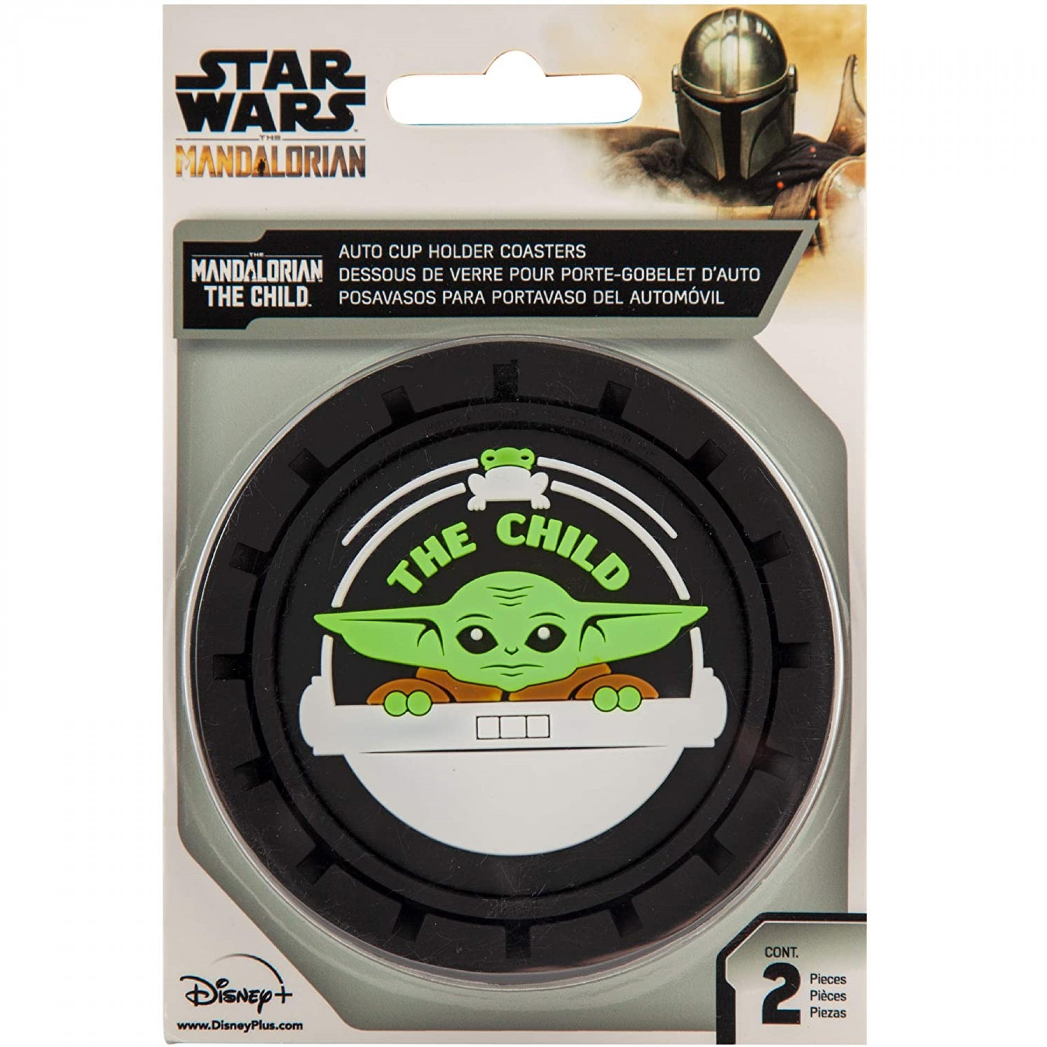 Star Wars Mandalorian The Child Grogu Car Cup Holder Coaster 2-Pack