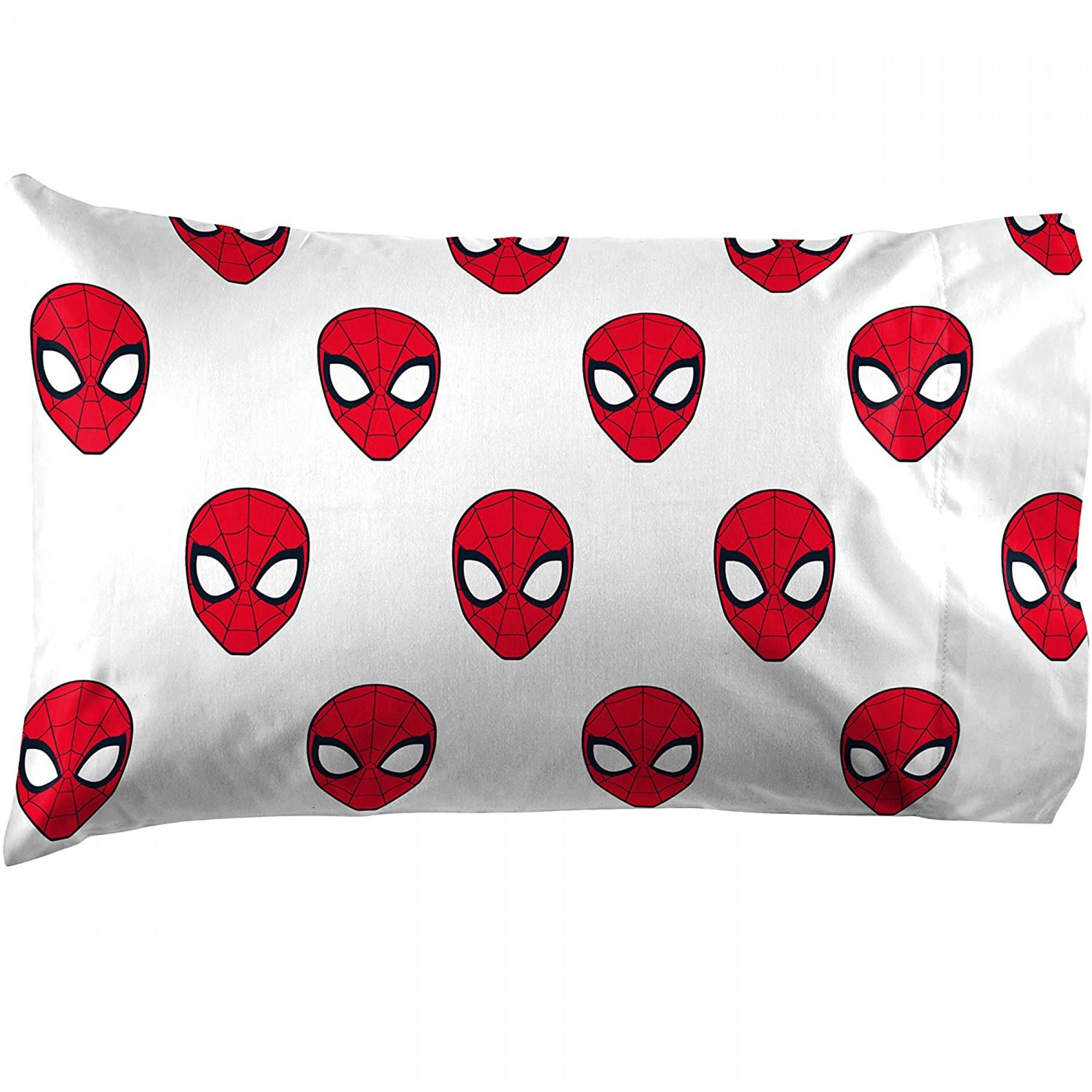 Marvel Spider-man All Over Spidery Face 3-Piece Full Sheet Set