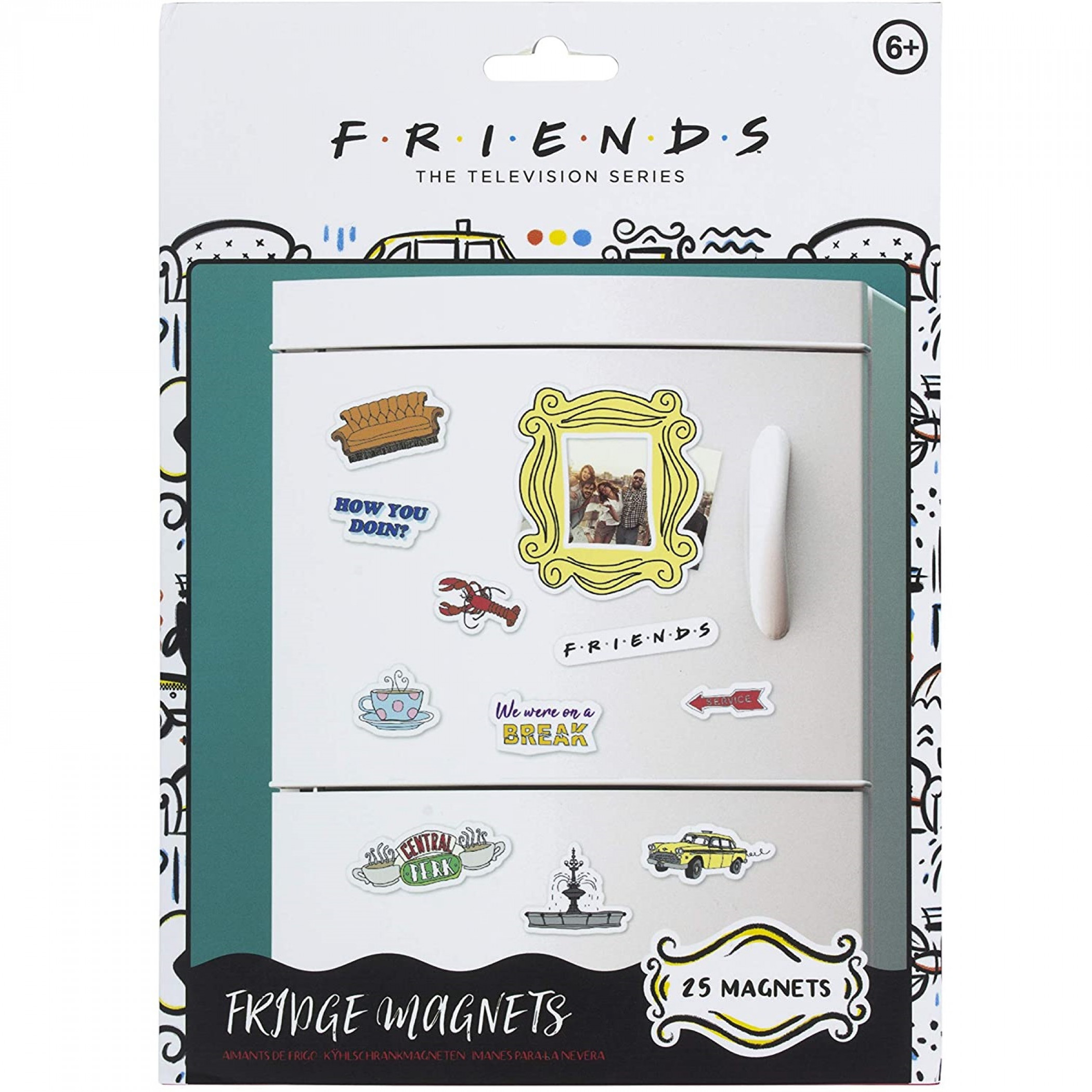 Friends Set of 25 Fridge Magnets