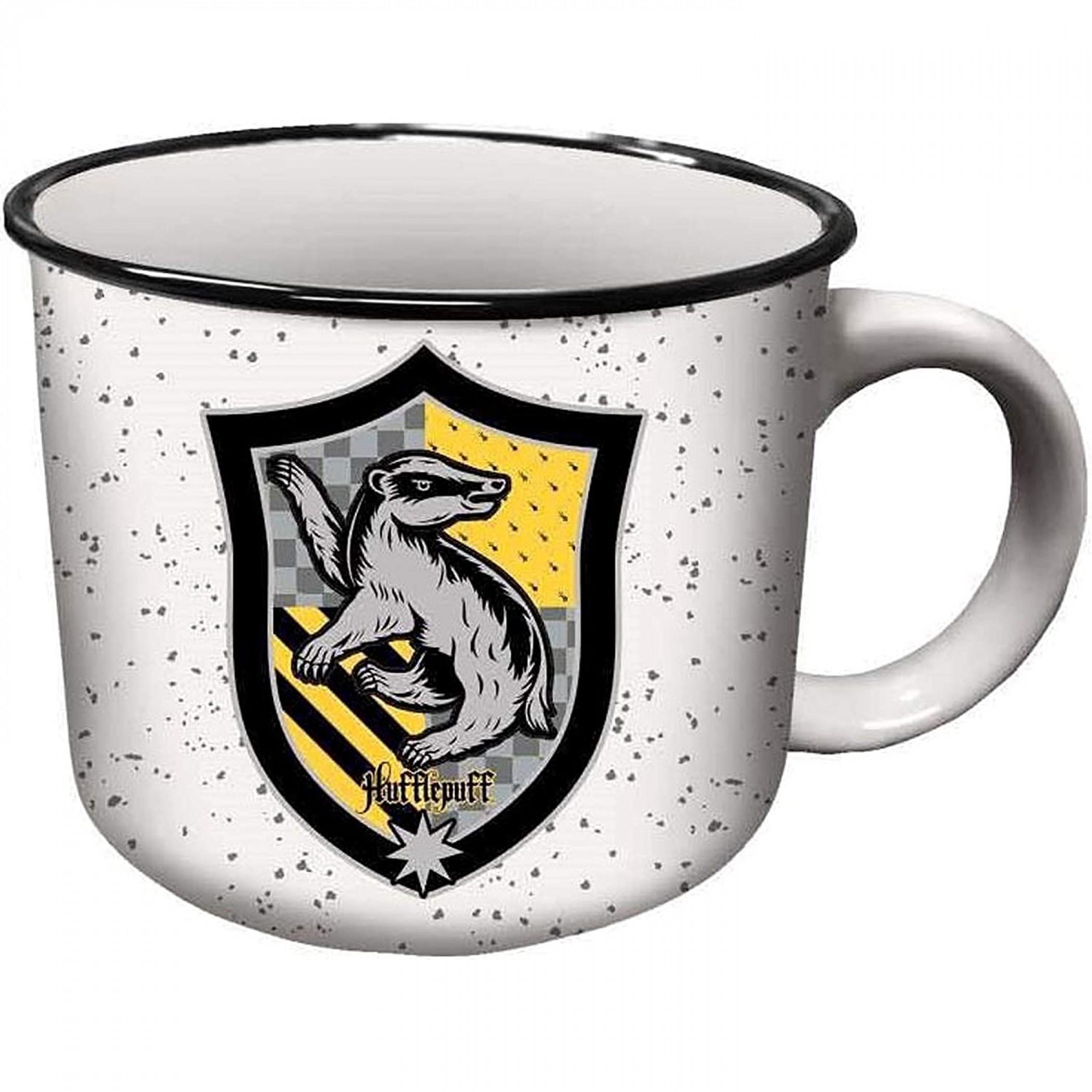 Harry Potter Hufflepuff House Crest Ceramic Camper Mug