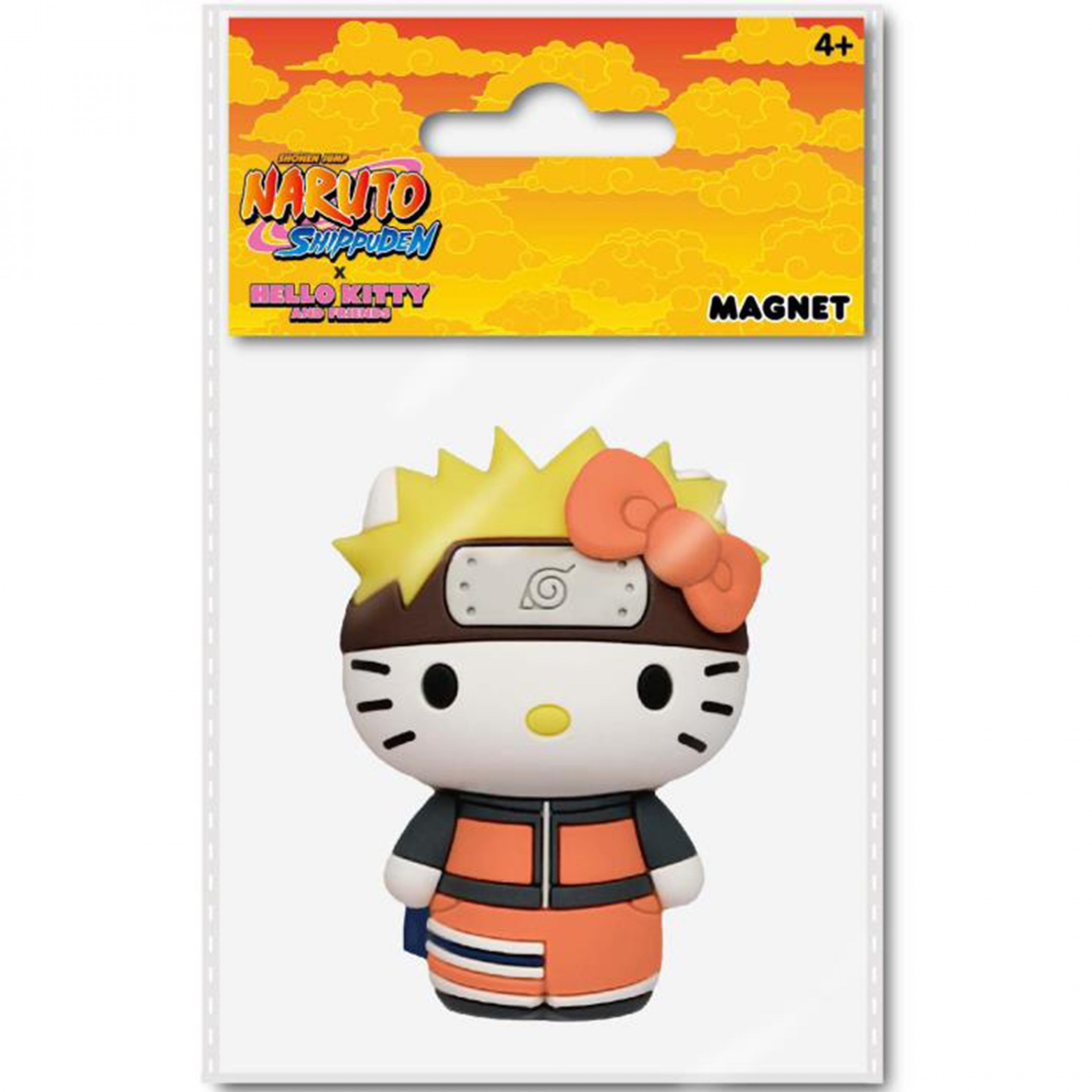Uzumaki Naruto X Hello Kitty Chibi Character 3D Foam Magnet