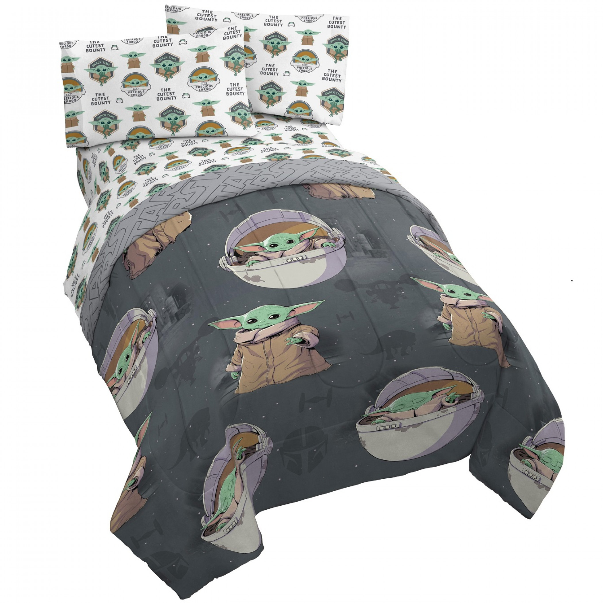 Star Wars The Mandalorian The Child All Over Twin Bed Set