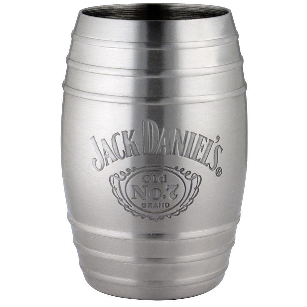 Jack Daniels Bottle Logo Barrel Shot Glass