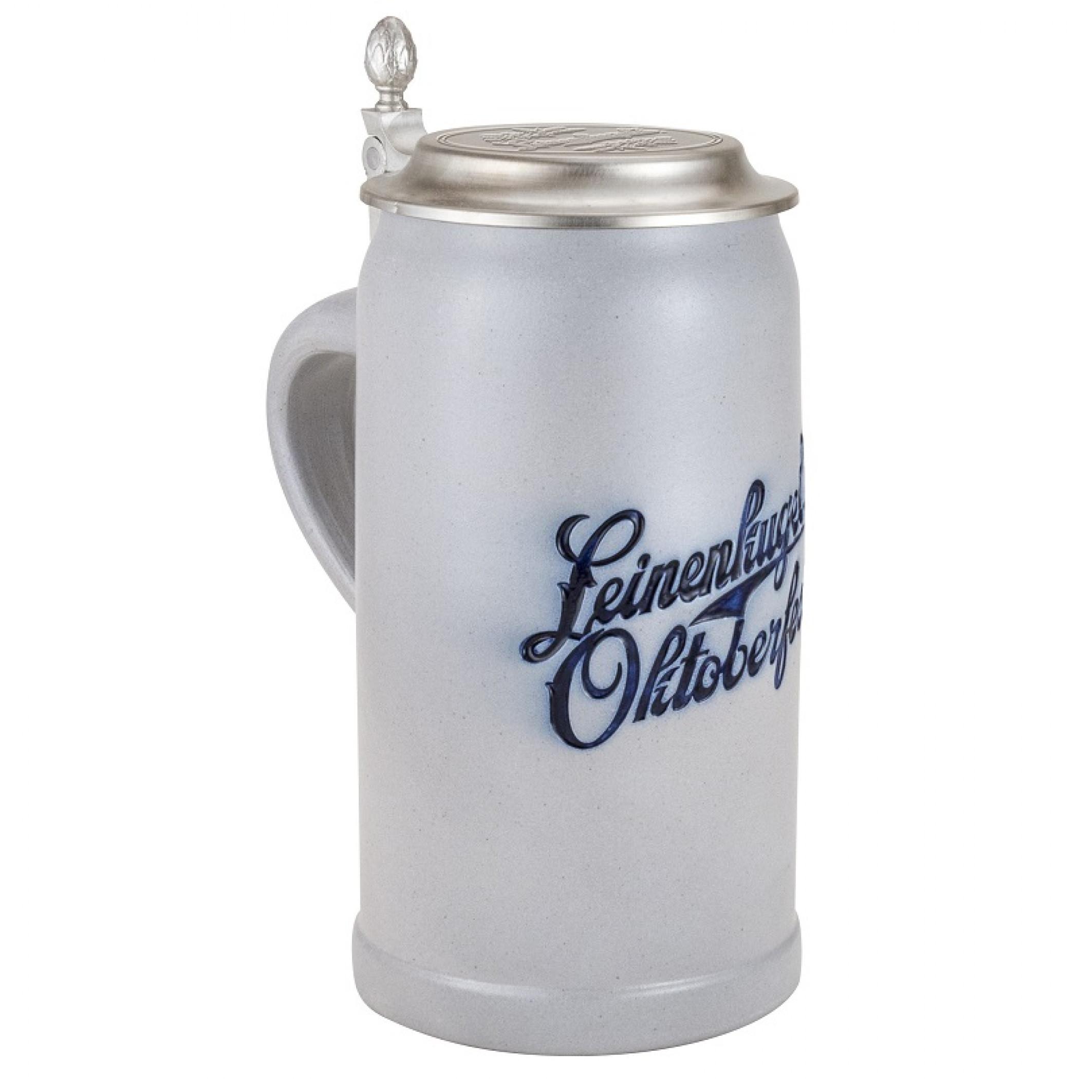 Leinenkugel Tall Beer Mug With Metal Lid