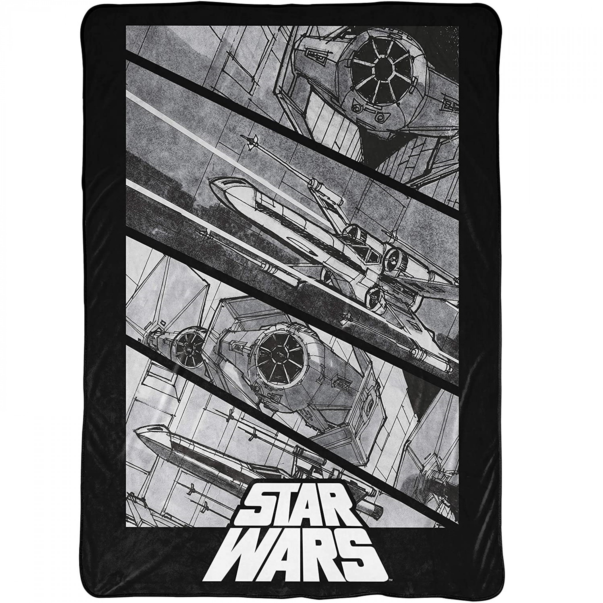 "Star Wars Sketched Ships 60""x 90"" Blanket"
