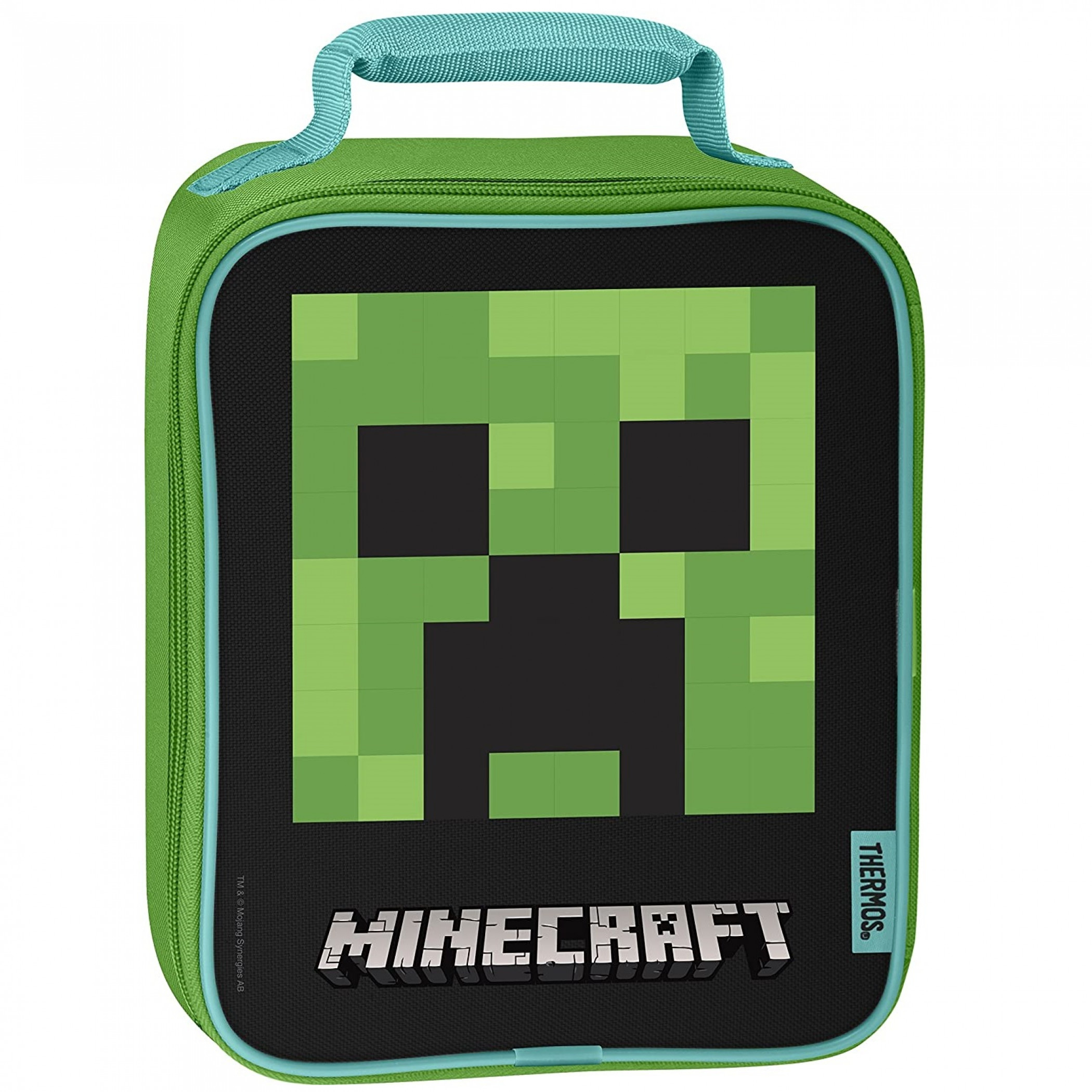 Minecraft Creeper Face Thermos Upright Lunch Box