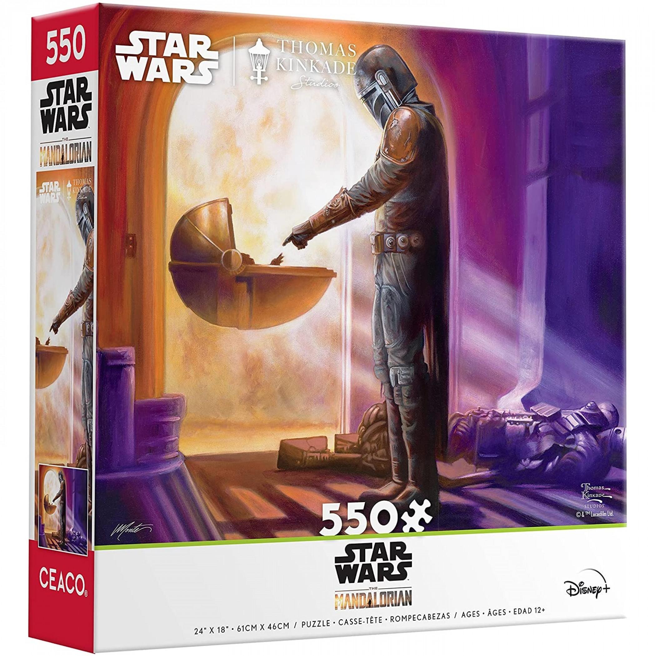 Star Wars The Mandalorian Meets The Child Grogu 550 Piece Puzzle