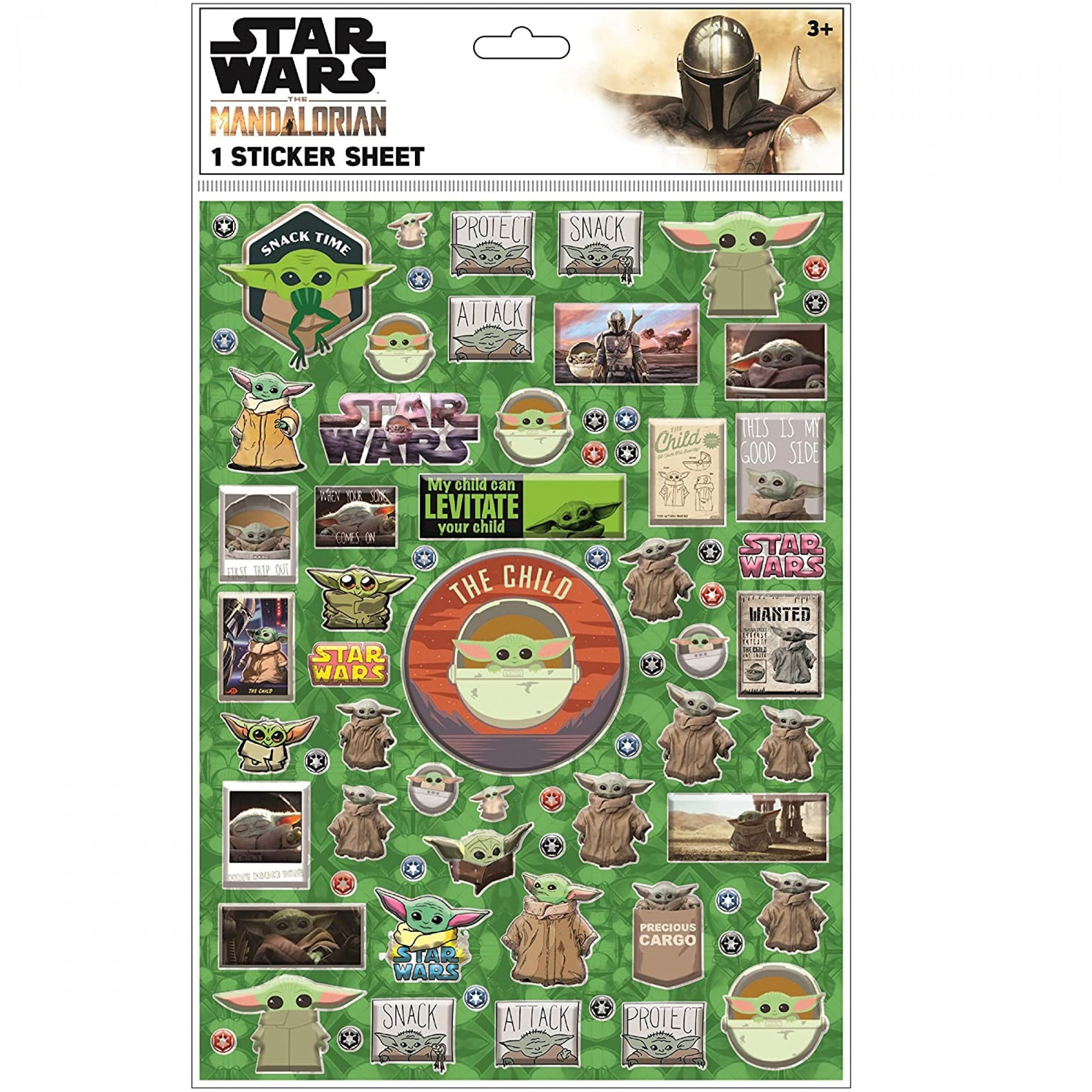 Star Wars The Child from The Mandalorian Raised Sticker Sheet