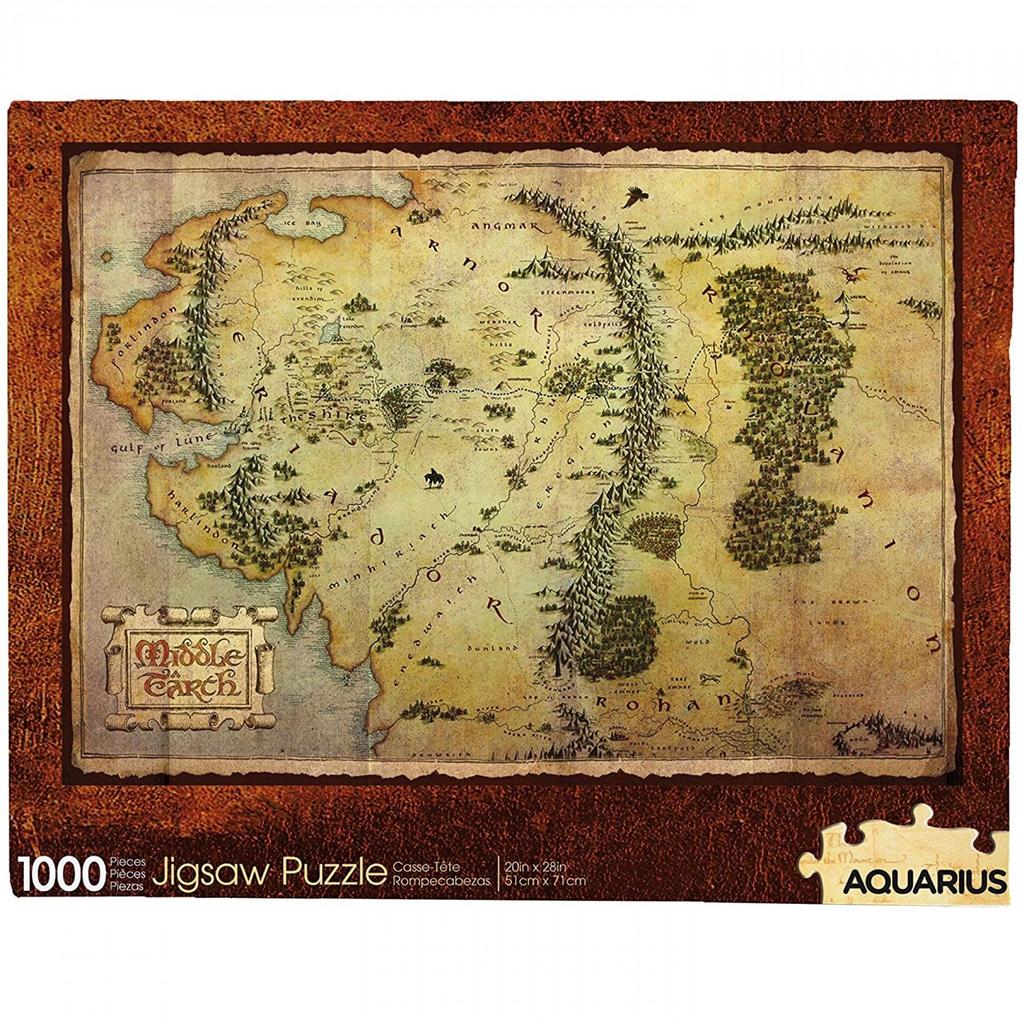 The Hobbit Map 1000 Piece Jigsaw Puzzle