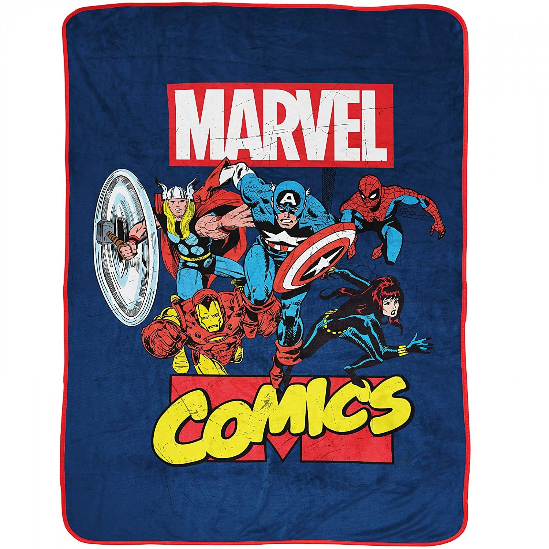 Marvel Comics Brand Avengers 46 x 60 Throw Blanket