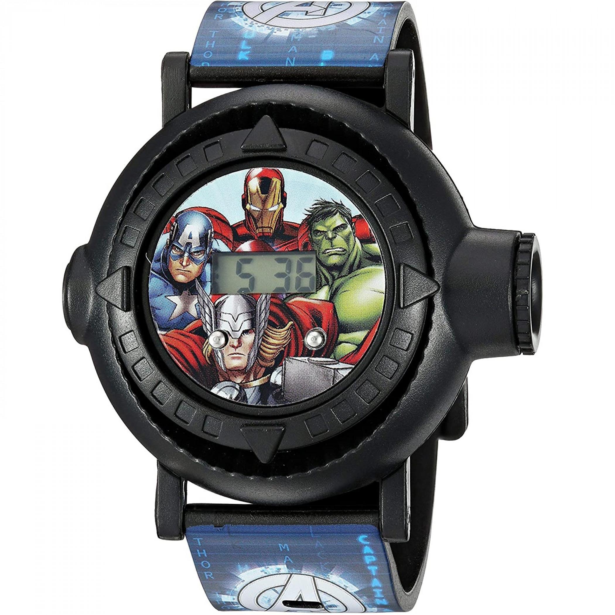 Marvel Avengers Earth's Mightiest Heroes Kids Digital Wristwatch
