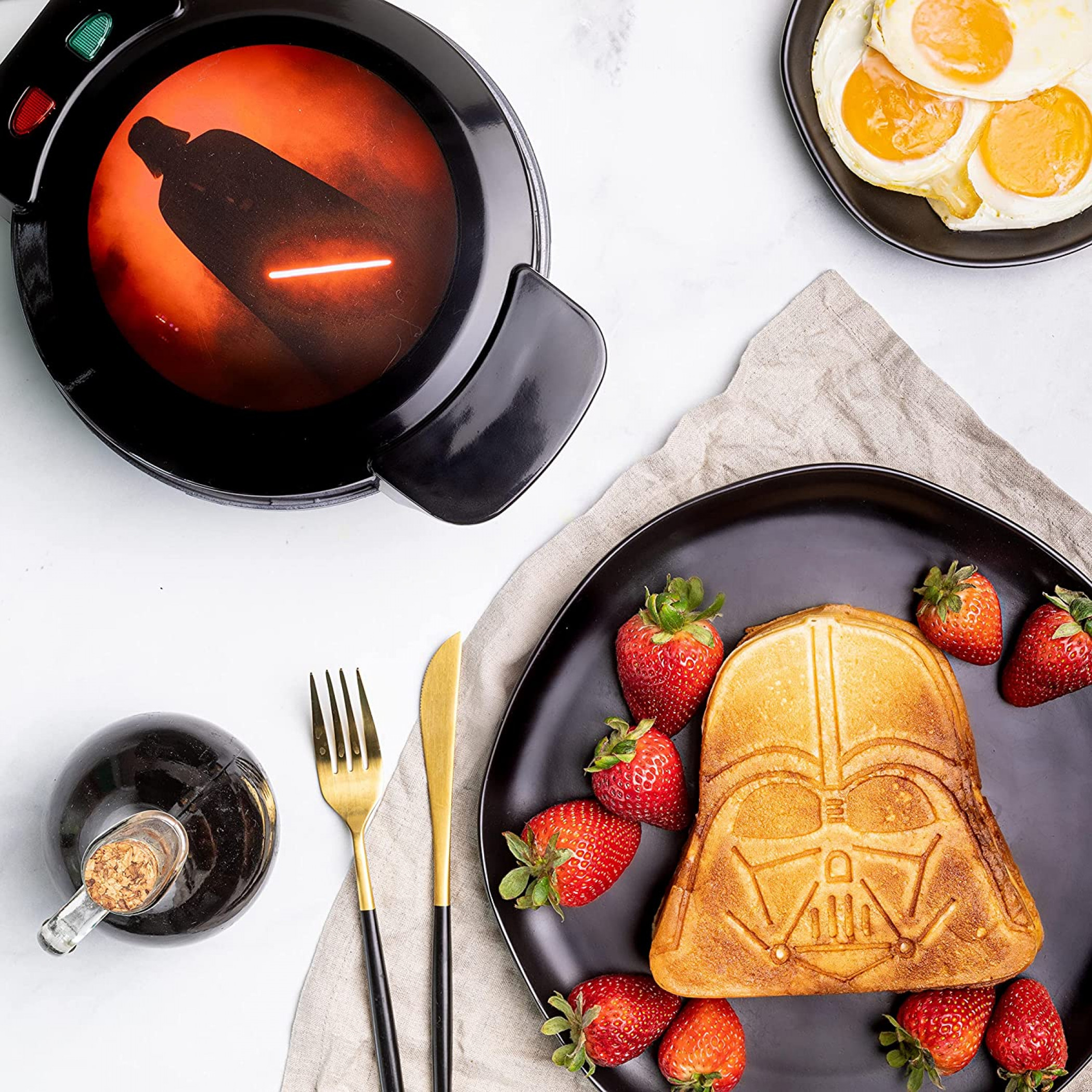 Star Wars Darth Vader with Lightsaber Waffle Maker from Uncanny Brands