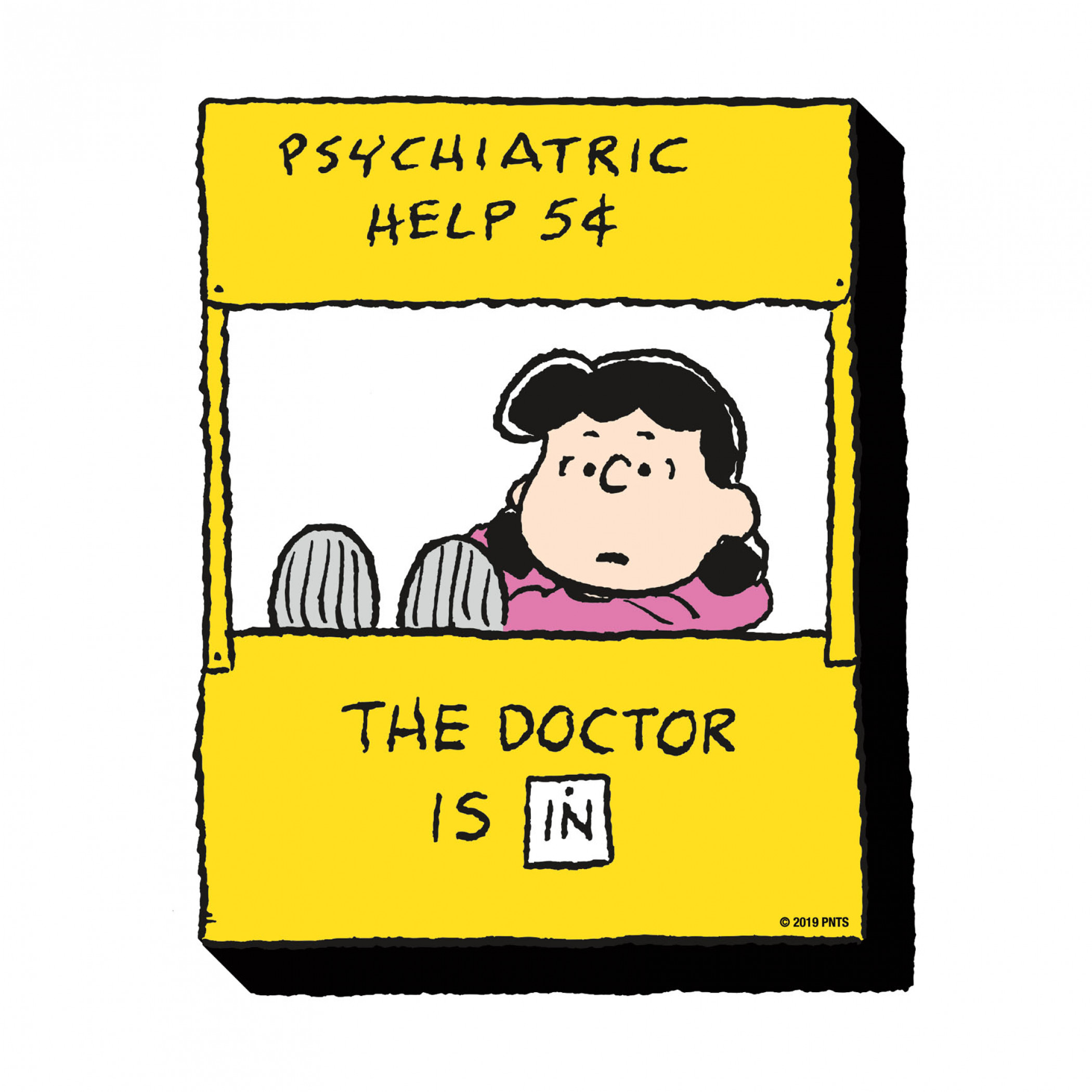 Peanuts Lucy Psychiatric Help Magnet