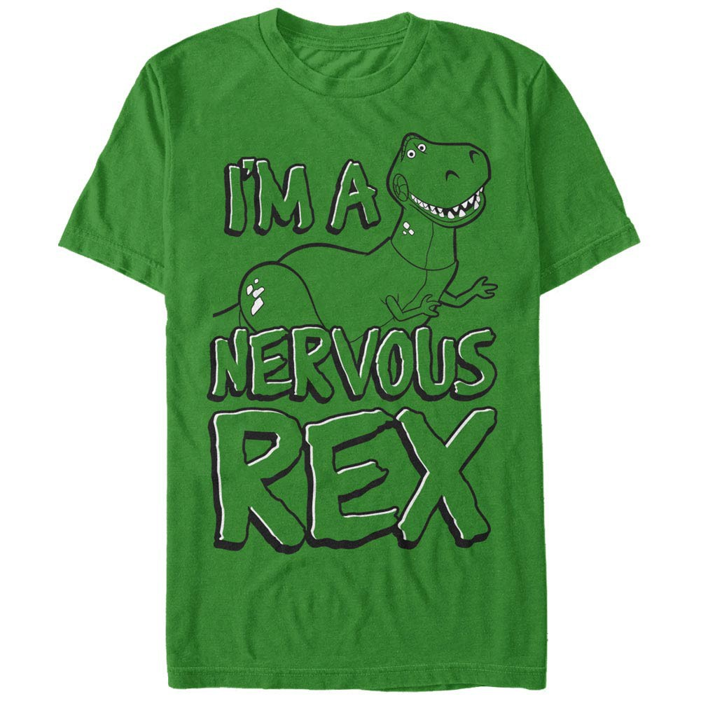 Disney Pixar Toy Story 1-3 Nervous Rex Green T-Shirt
