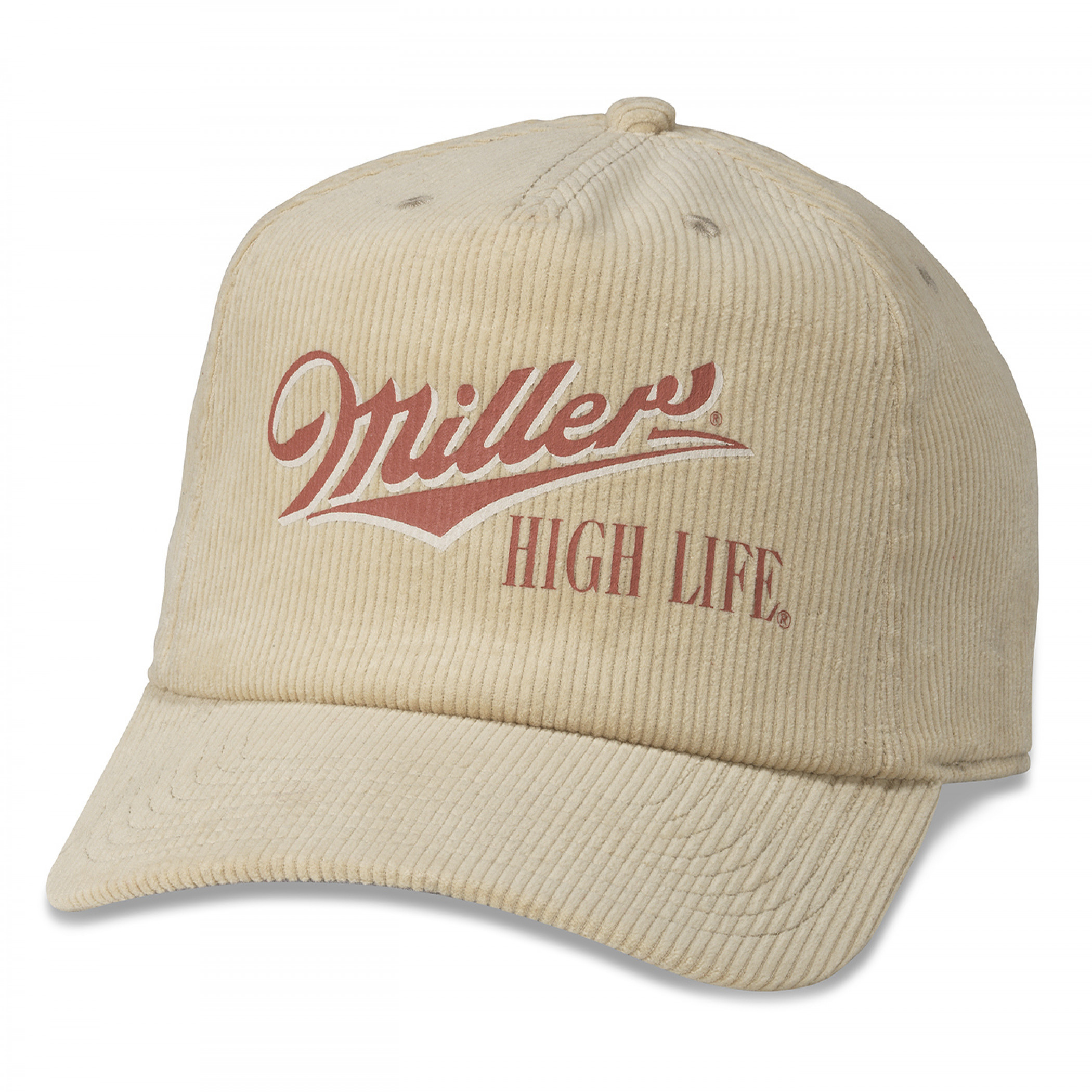 Miller High Life Beer Printed Corduroy Hat