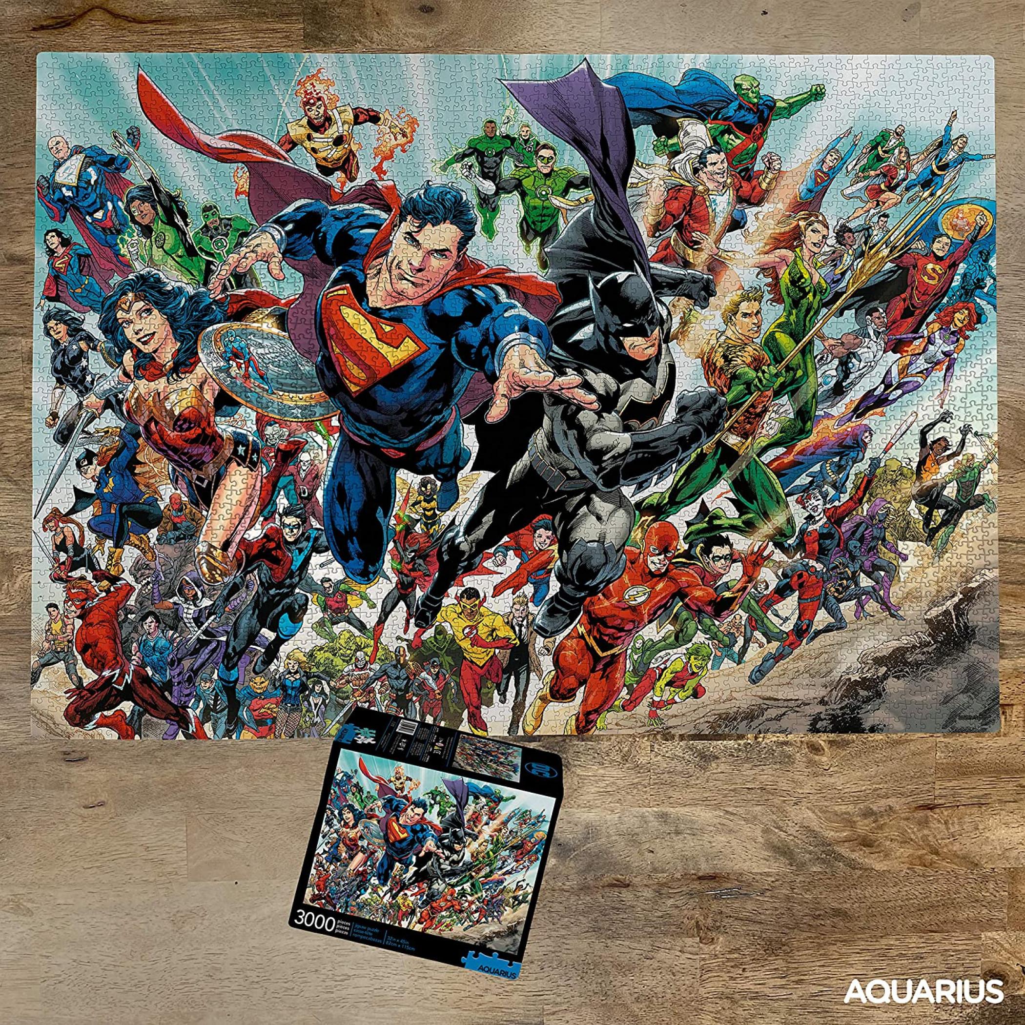 DC Cast Team Up 3000 Piece Puzzle