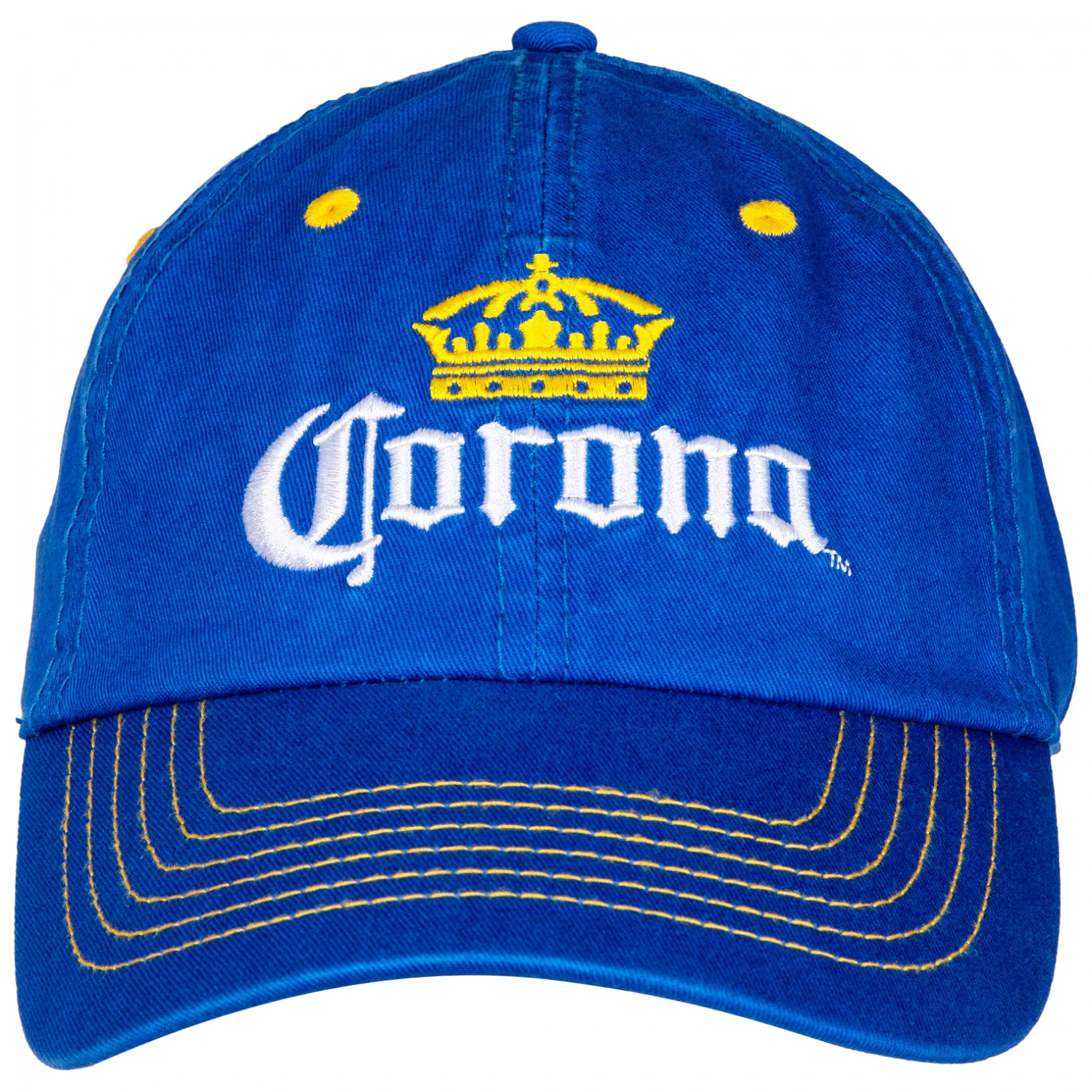 Corona Extra Yellow Stitch Adjustable Strapback Hat