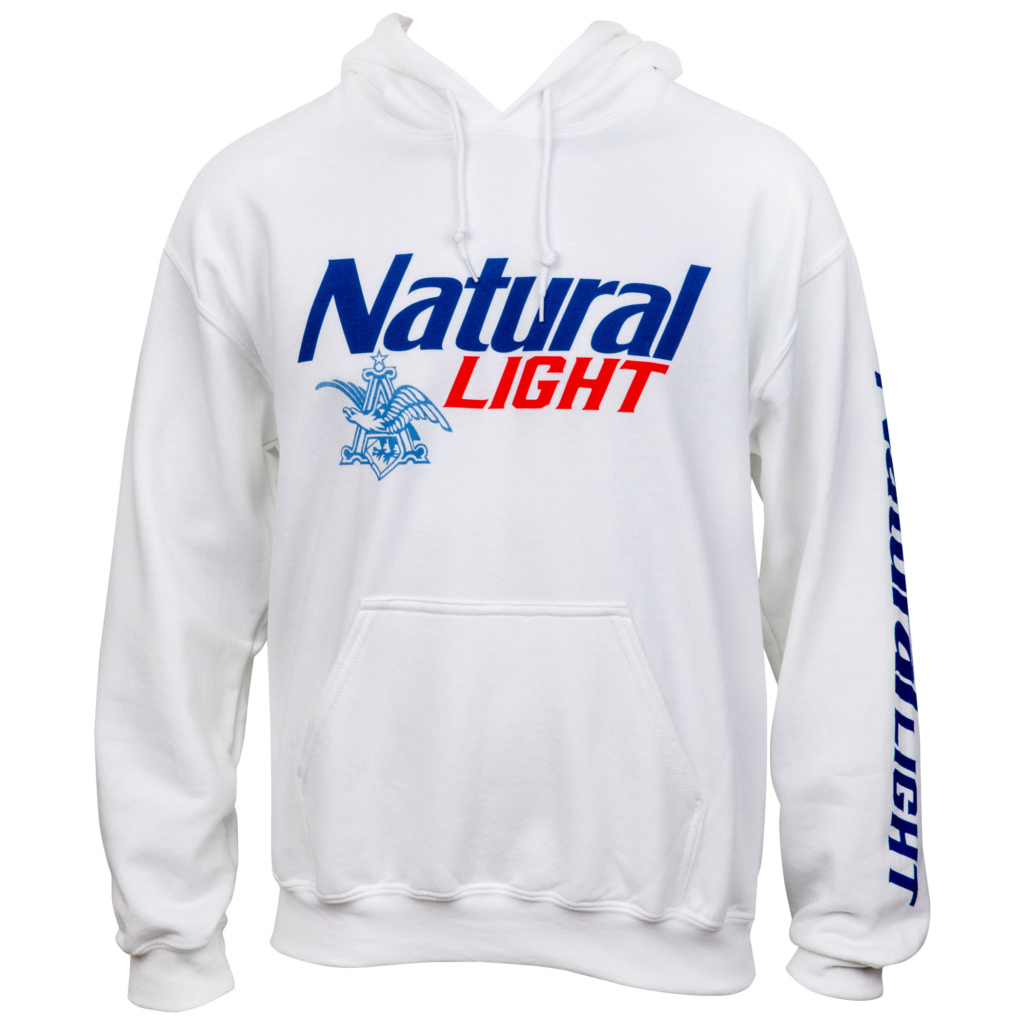 Natural Light Logo Sleeve Print Pullover Hoodie