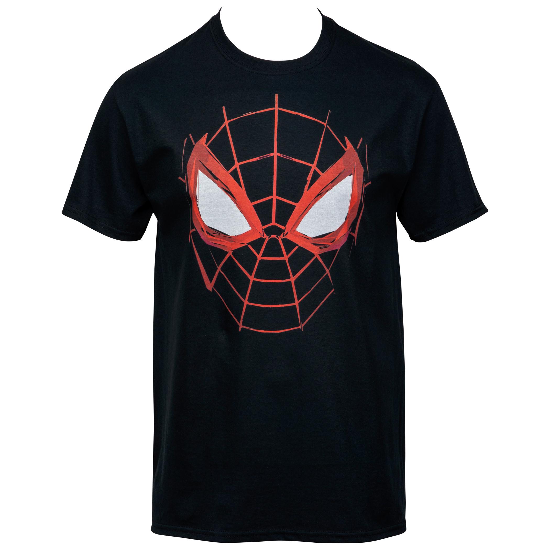 Spider-Man Miles Morales Web Face T-Shirt