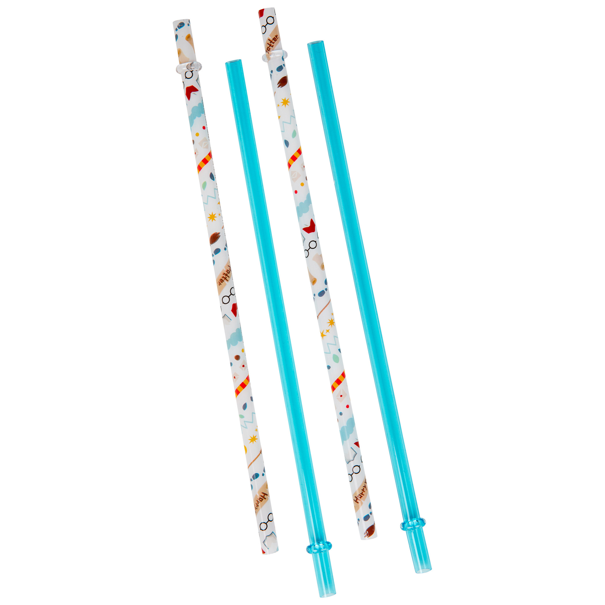Harry Potter Icon 4-Pack of Reuseable Plastic Straws